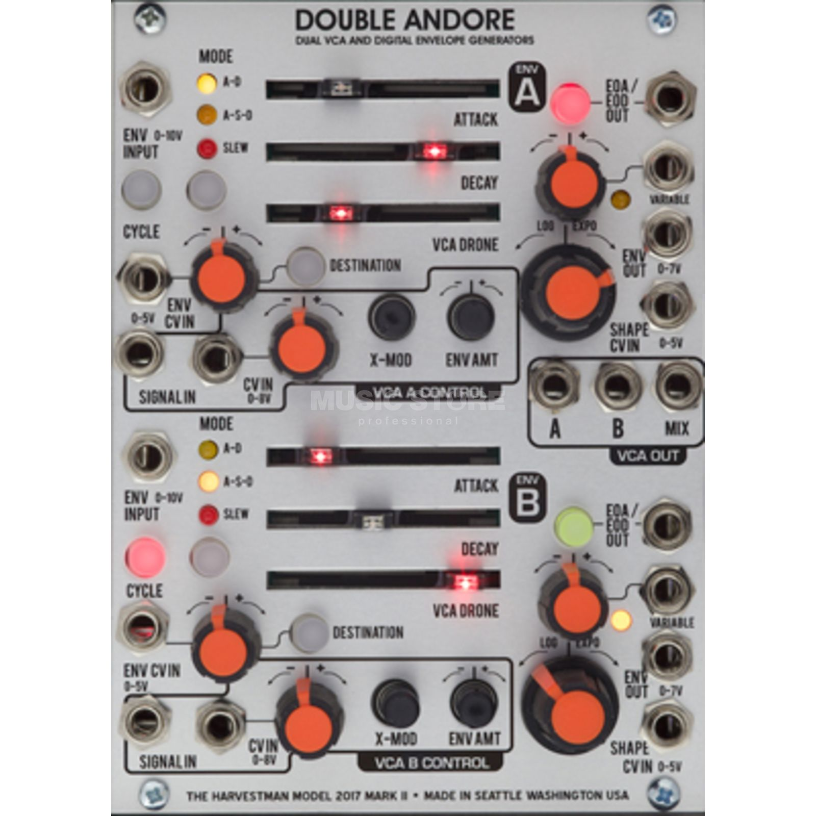 The Harvestman Double Andore MK2 Dual Envelope / VCA Produktbild