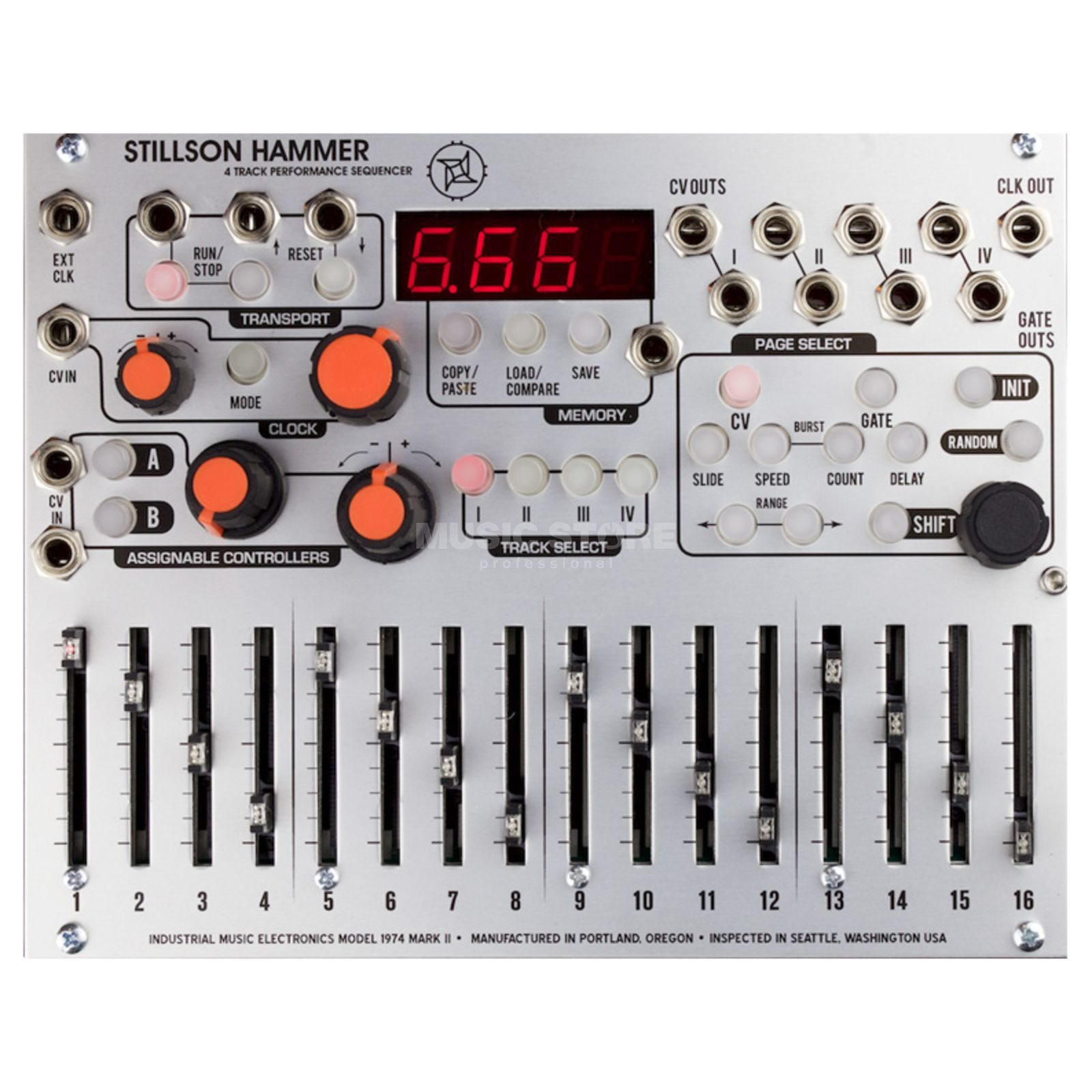 The Harvestman Stillson Hammer MK2 4 Track CV/Gate Sequencer Product Image