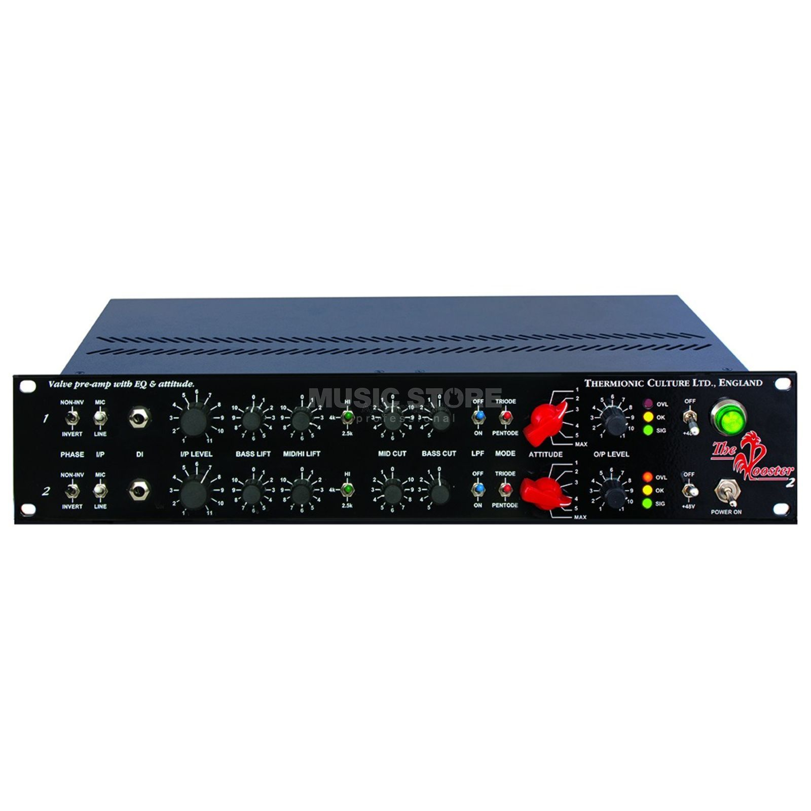 Thermionic Culture The Rooster Balanced Dual Mono Mic/Line/DI Preamp Εικόνα προιόντος