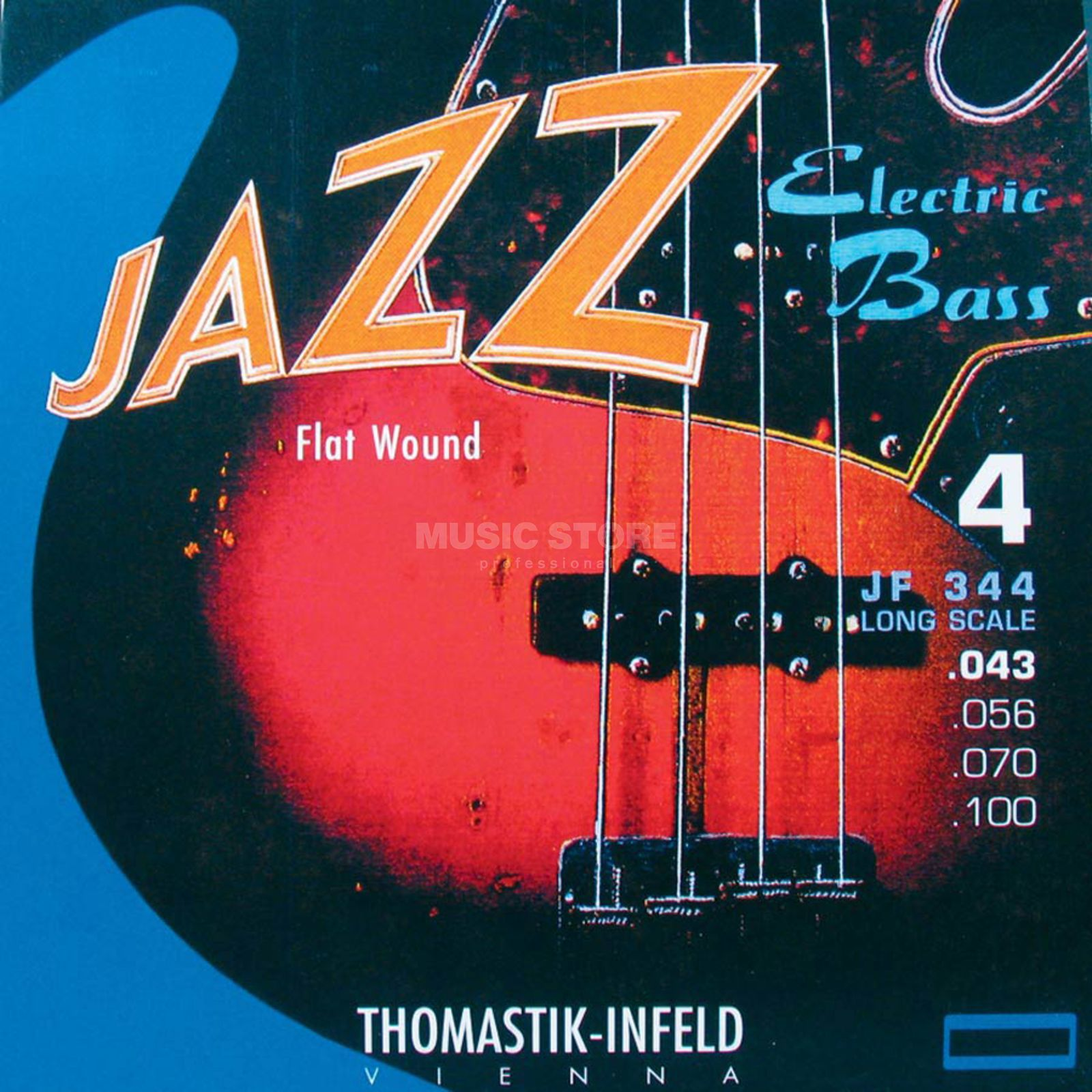 Thomastik 4 Bass Strings JF 344 43-100 Nickel Flat Wound Imagem do produto