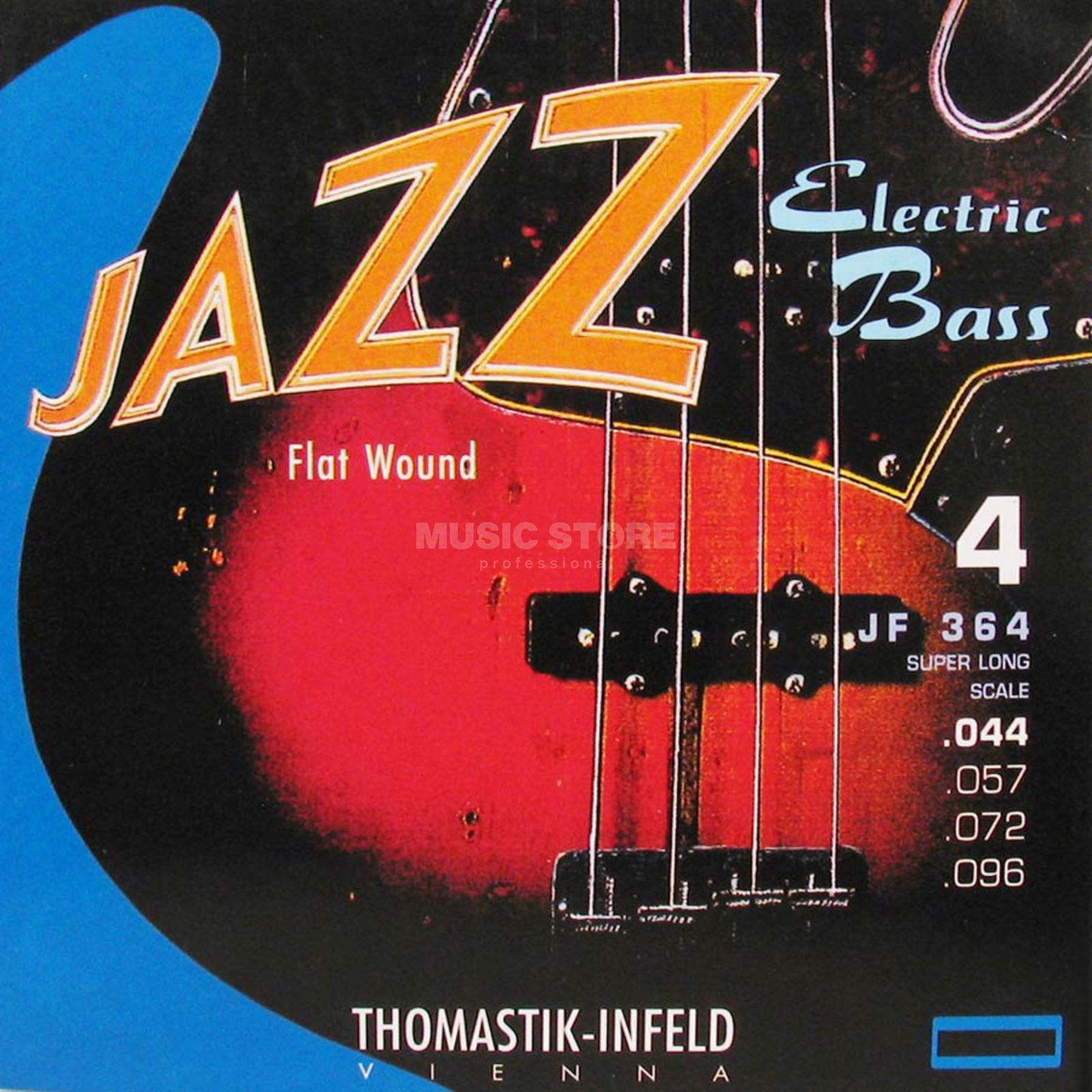 Thomastik 4 Bass Strings JF 364 44-96 Nickel Flat Wound Produktbillede