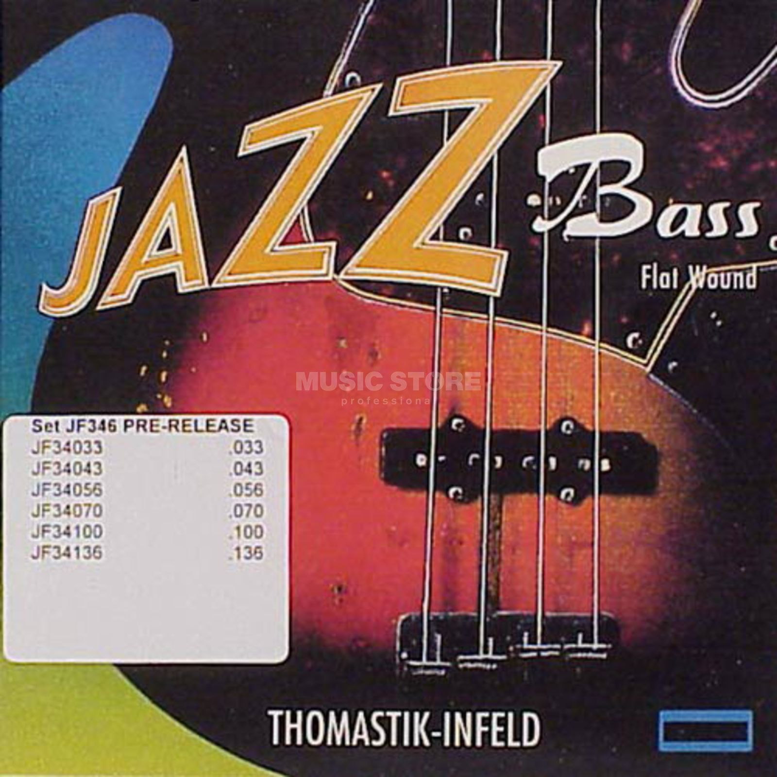 Thomastik 6 Bass Srtings JF 346 33-136 Nickel Flat Wound Product Image