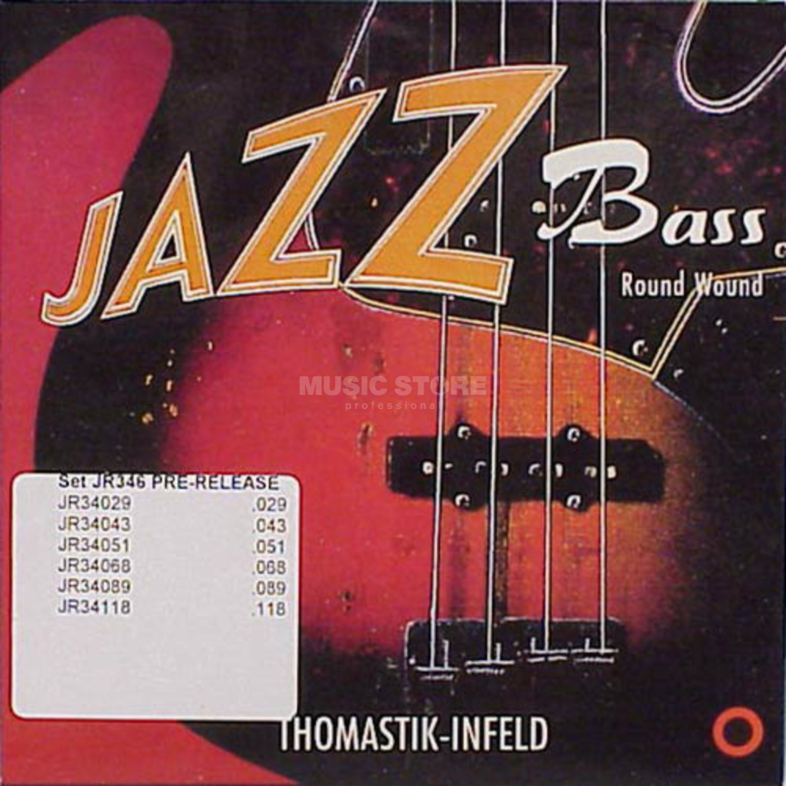 Thomastik 6 Bass Strings JR 346 29-118 Nickel Round Wound Imagem do produto