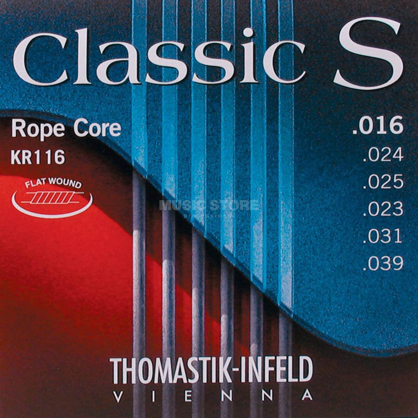 Thomastik Classic S Strings,  KR116 Rope Core, Flat Wound Produktbillede