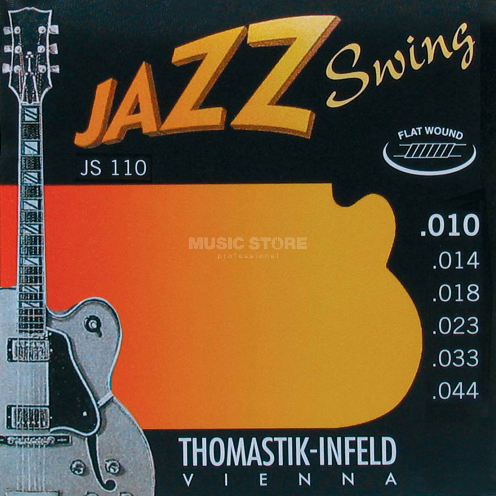 Thomastik Cordes guitare électrique, 10-44,Jazz Swing Filet plat Image du produit