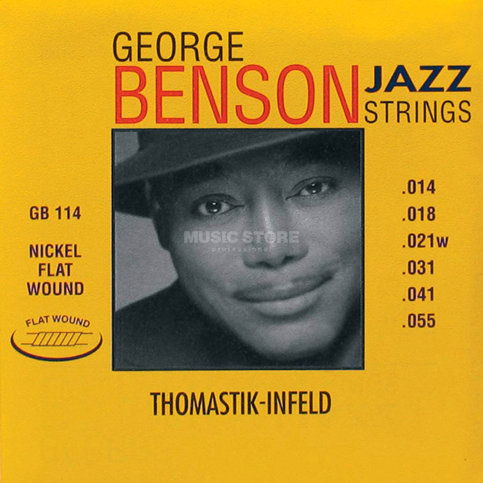 Thomastik Saiten 14-55 George Benson GB 114 Nickel Flat Wound Produktbild