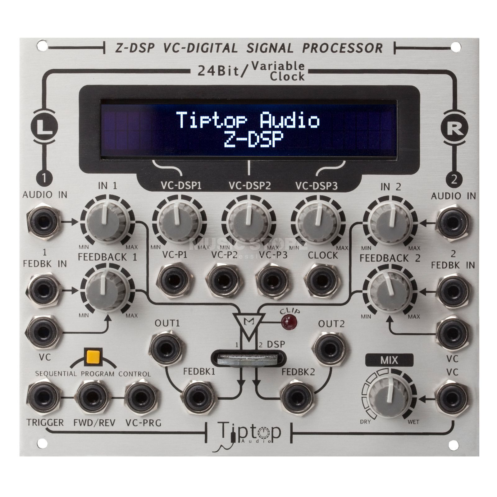 Tiptop Audio ZDSP inkl. Dragonfly MKII Voltage Controlled DSP Produktbillede