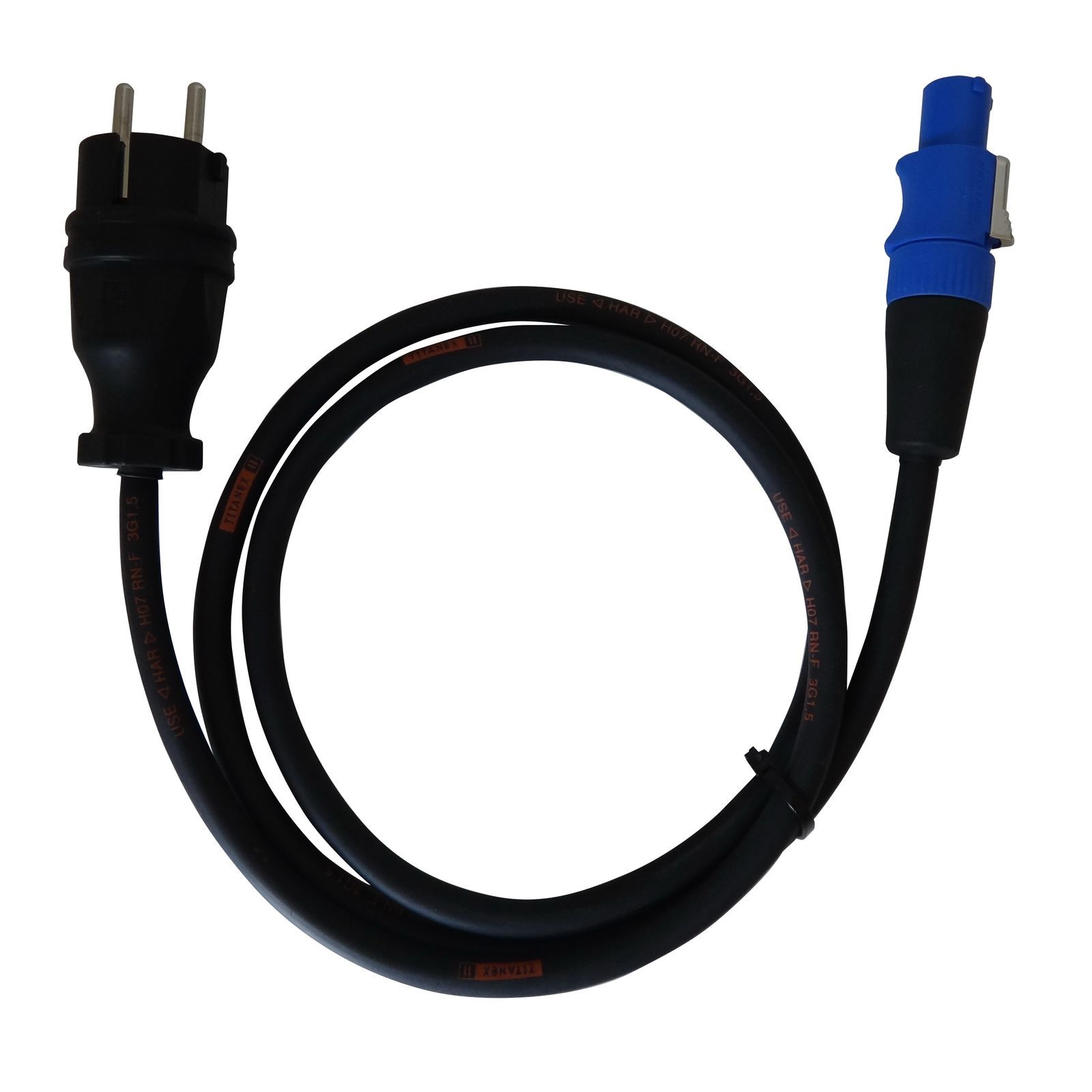 TITANEX PowerCon power cable 3m to Neutrik PowerCon blue Produktbillede