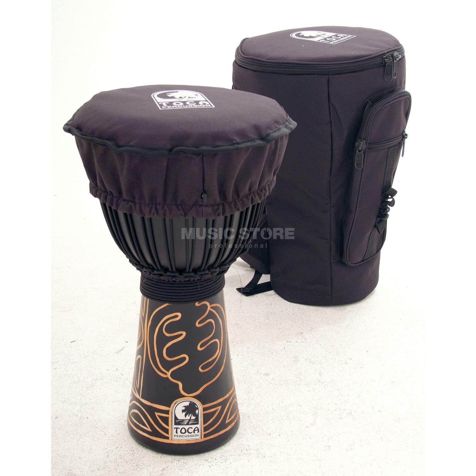 "Toca Percussion Black Mamba Djembe ABMD-13, 13"", Rope Tuned, incl.  Bag Produktbillede"