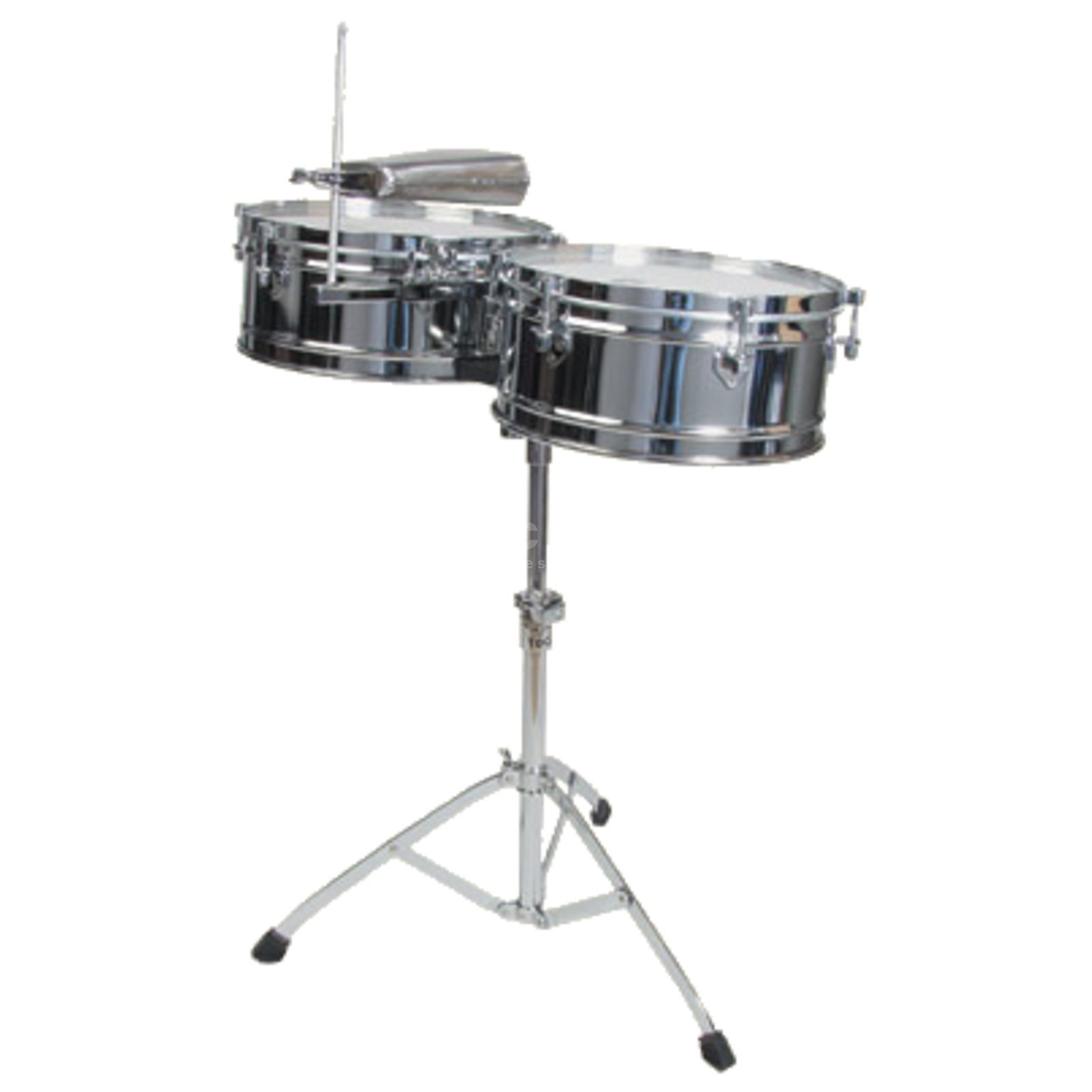 "Toca Percussion Elite Timbales T-315, 14""&15"", Chrome plated Steel Productafbeelding"