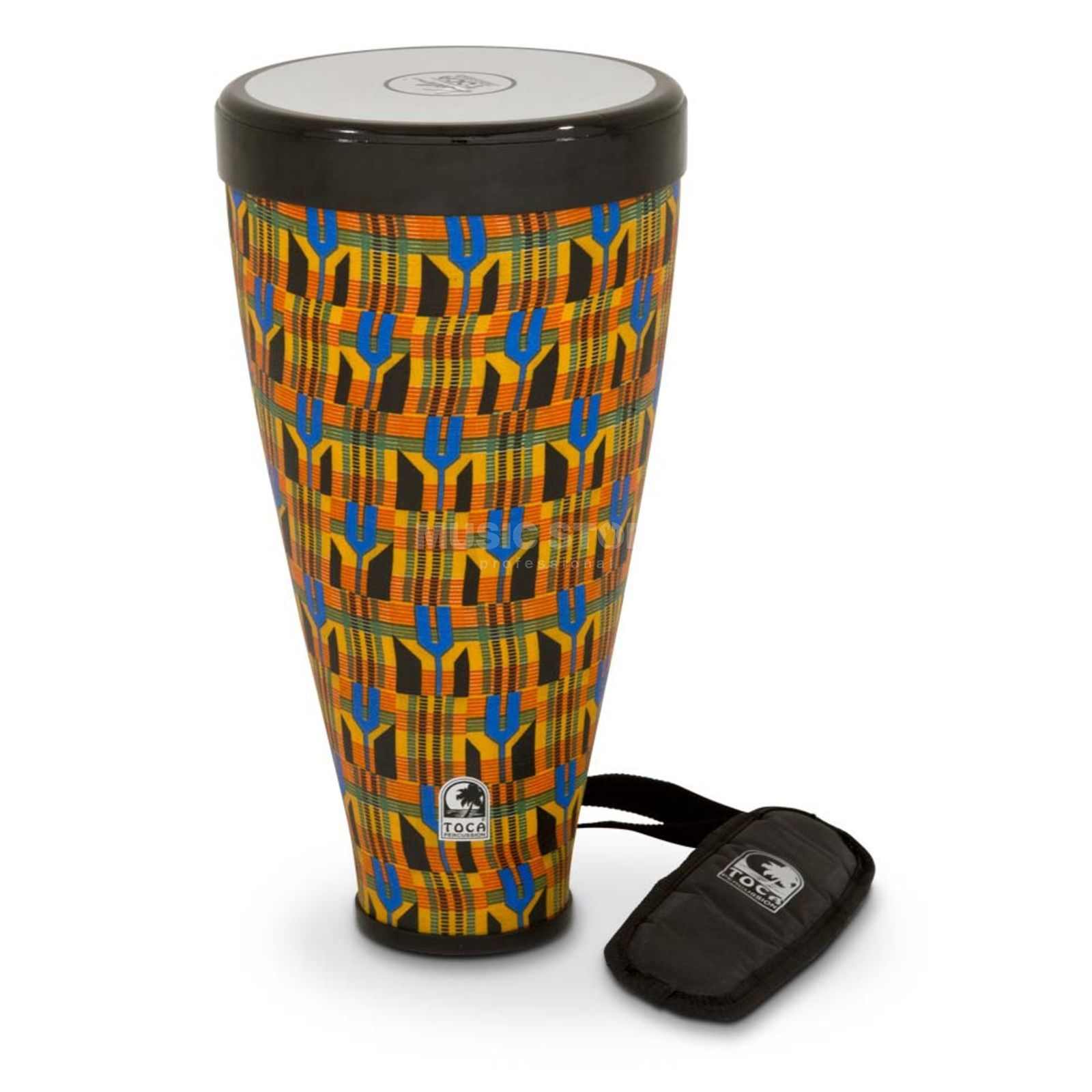 "Toca Percussion Flex Drum Junior TFLEX-JRK, 9-1/2"", Kente Cloth Produktbild"