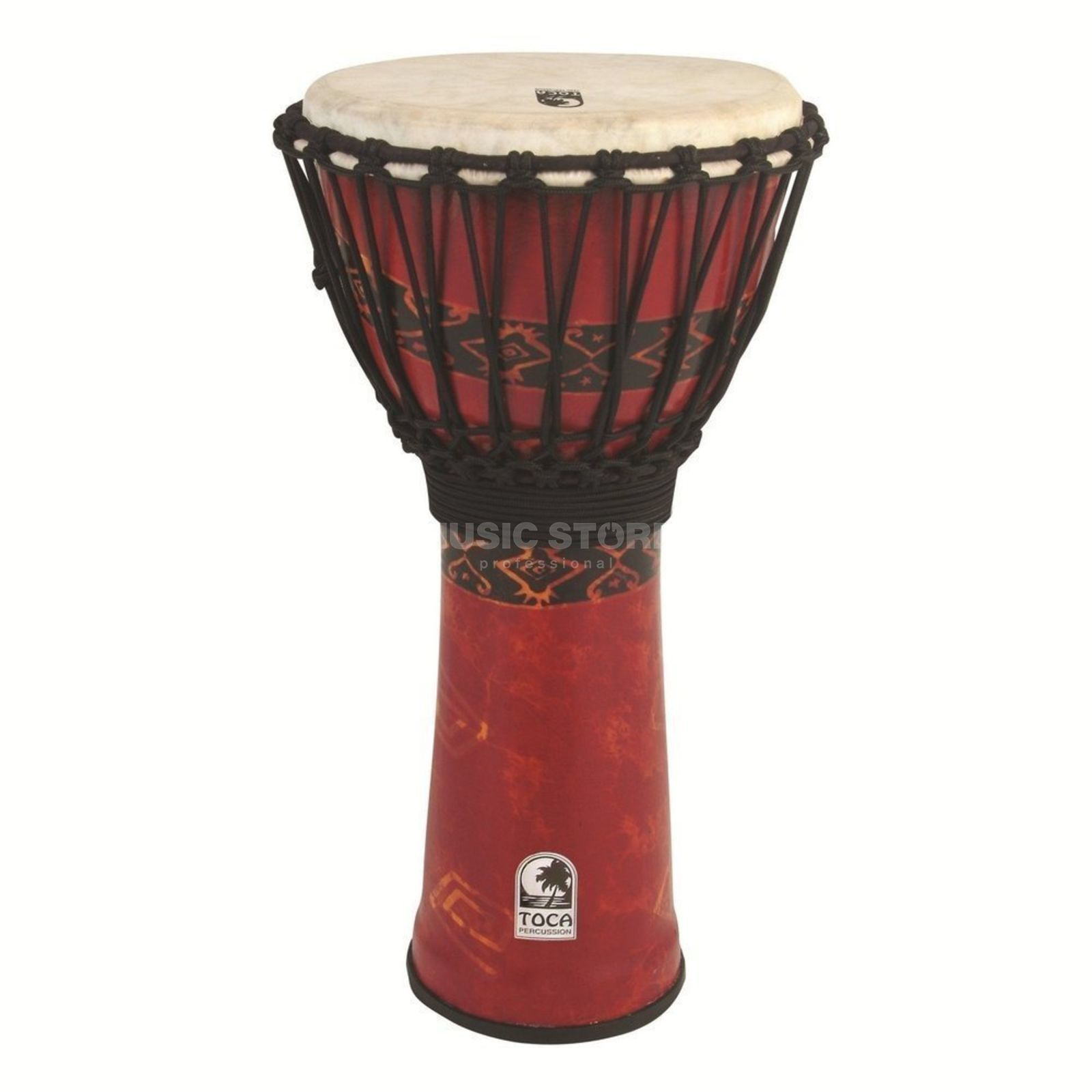 Toca Percussion Freestyle Djembe SFDJ-10RP Rope Tuned Bali Red Product Image