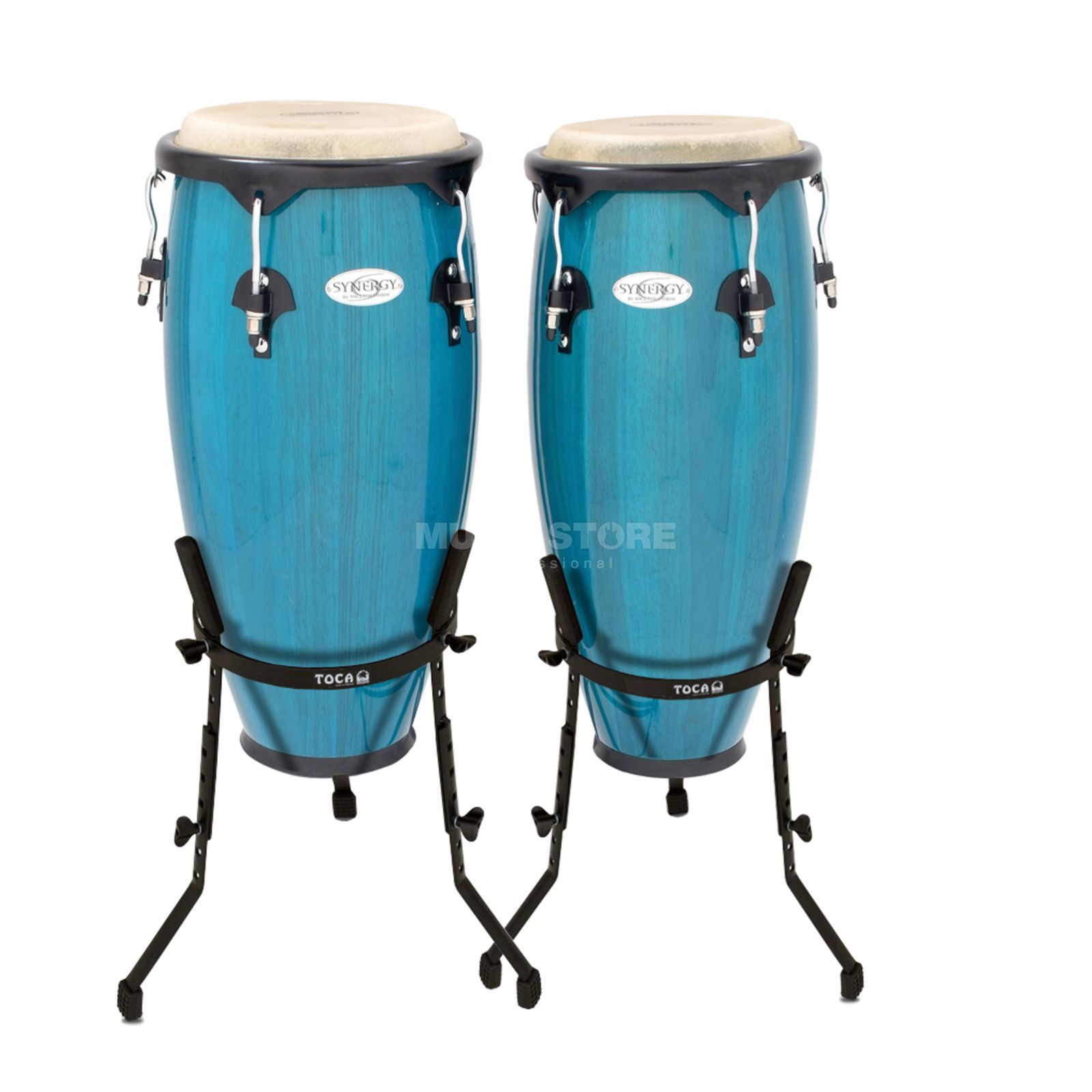 "Toca Percussion Synergy CongaSet 2300BB-B, 10"" & 11"", Bahama Blue Produktbillede"