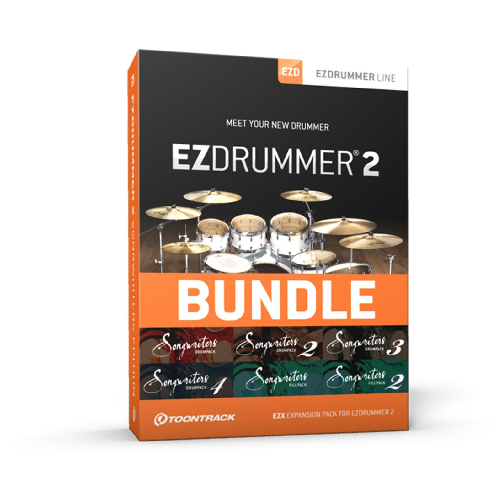 Toontrack EZ Drummer 2 Songwriters Ed. Productafbeelding