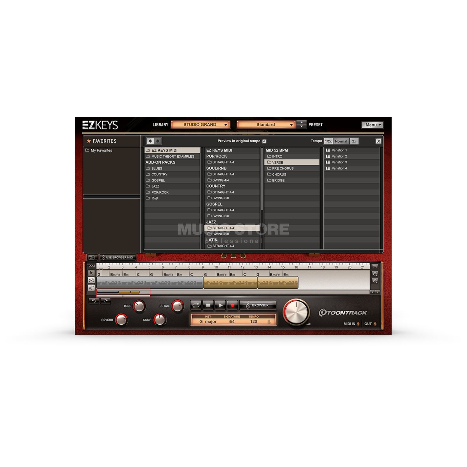 Toontrack EZ Keys Studio Grand Product Image
