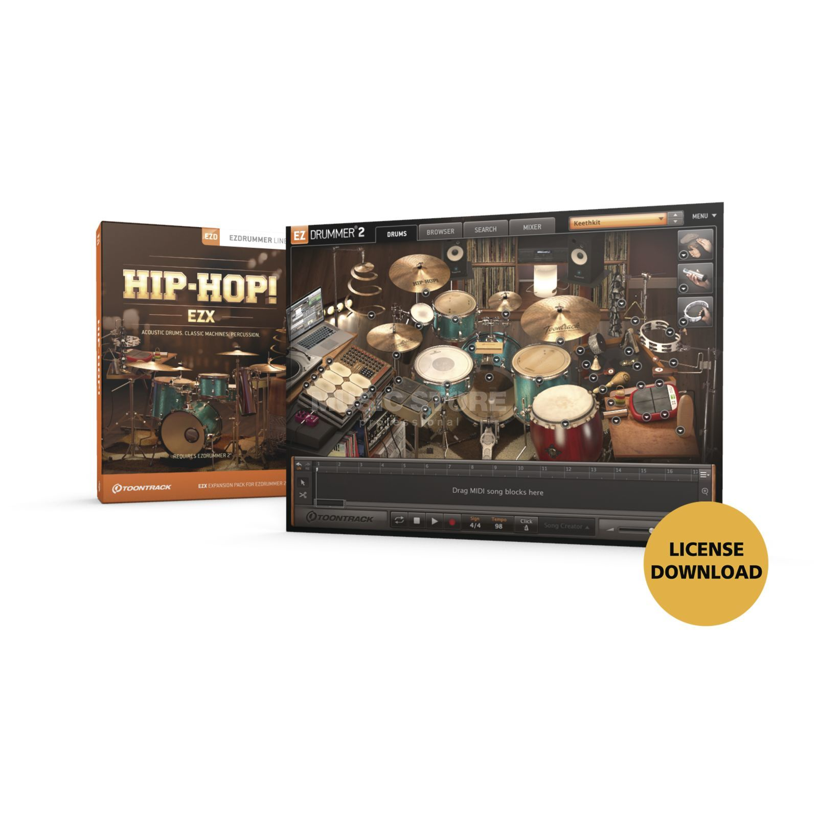 Toontrack EZX HipHop License Code Produktbild