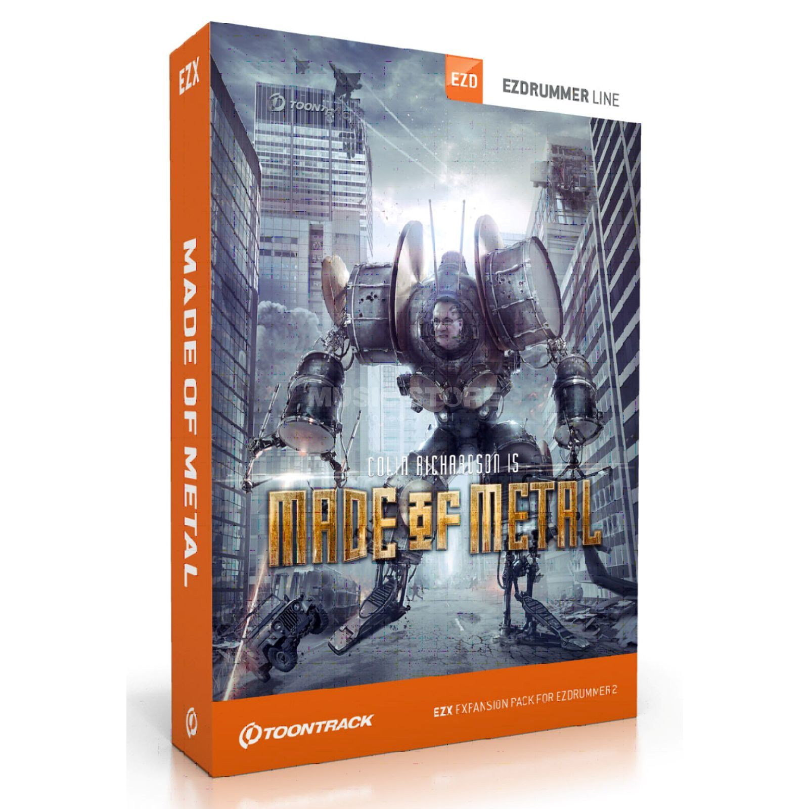 Toontrack EZx - Made ofMetal Sounds for EZ Drummer DVD Produktbillede