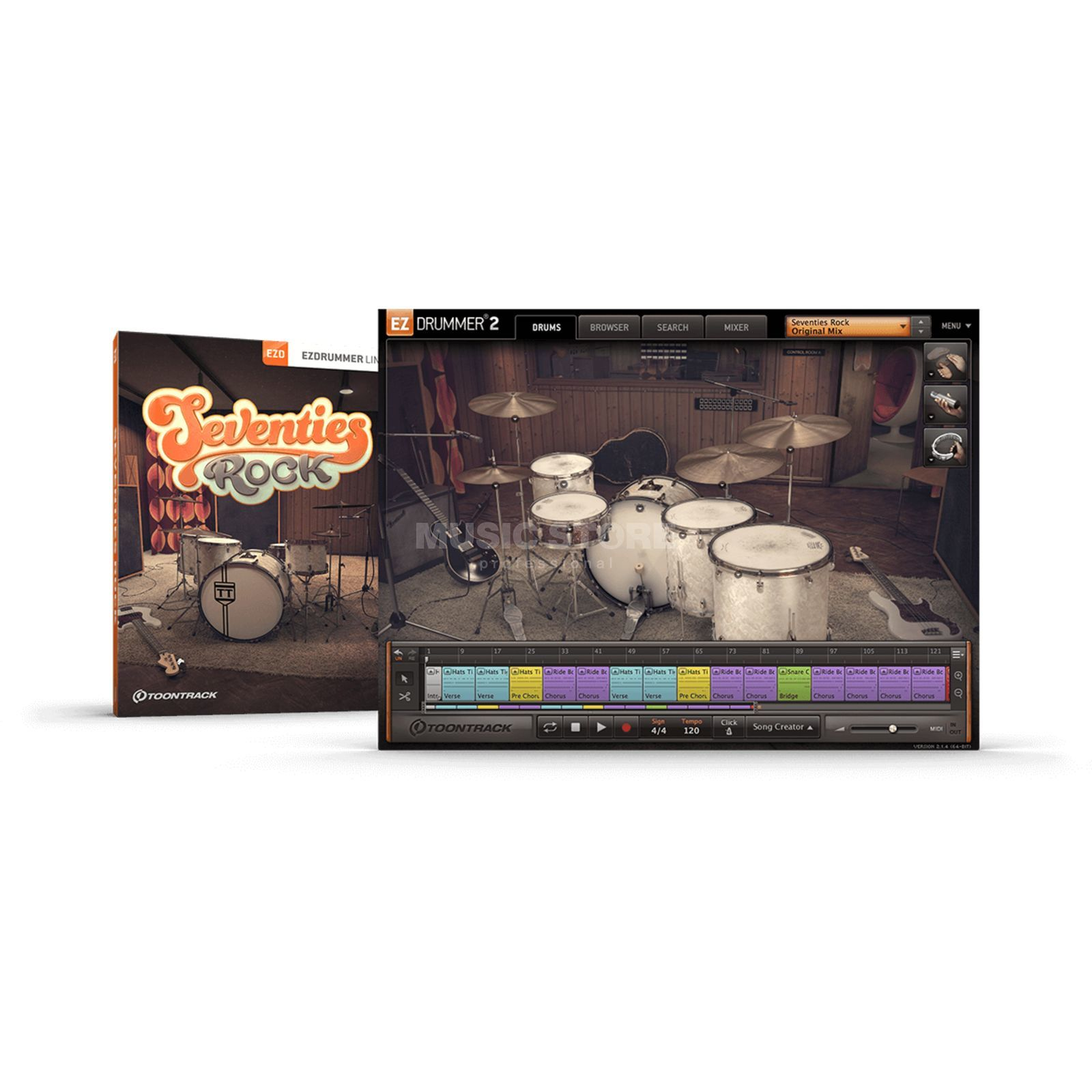 Toontrack EZX Seventies Rock Sounds für EZ Drummer 2 Product Image