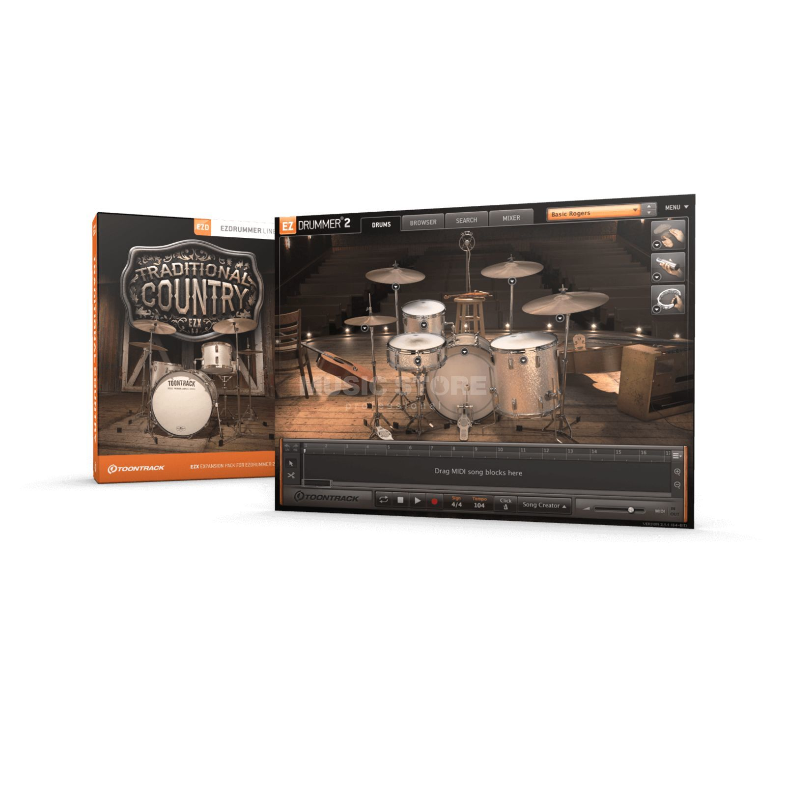 Toontrack EZX Traditional Country Sounds für EZ Drummer 2 Produktbild