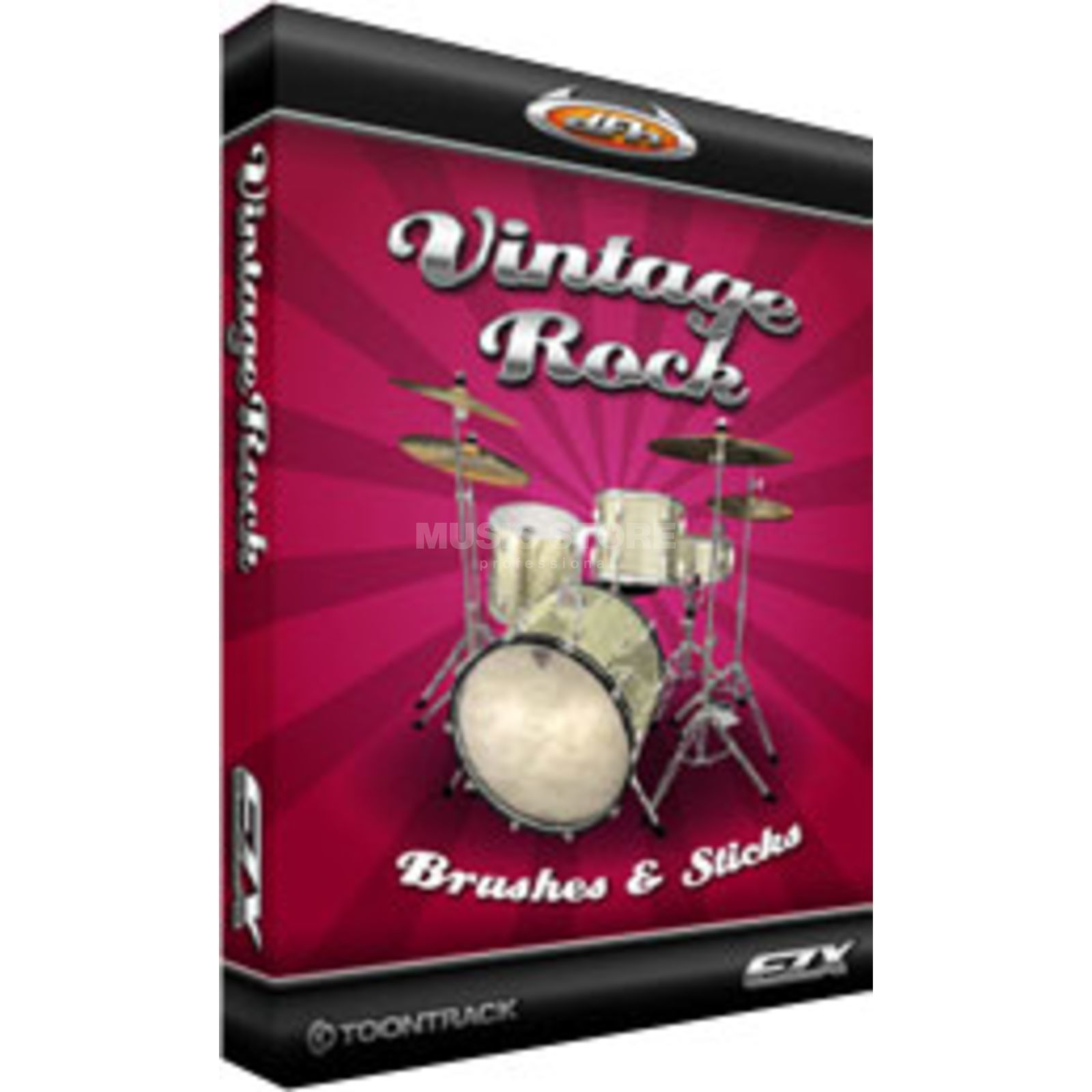 Toontrack EZX Vintage Rock Brush&Sticks Expansion for EZ Drummer /DVD Produktbillede