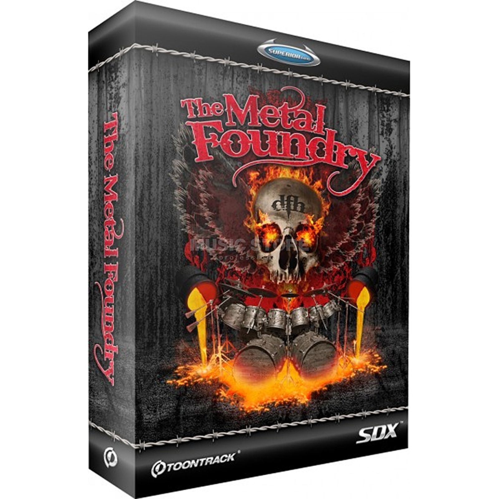 Toontrack SDX Metal Foundry Superior Drummer 2 Library Produktbild