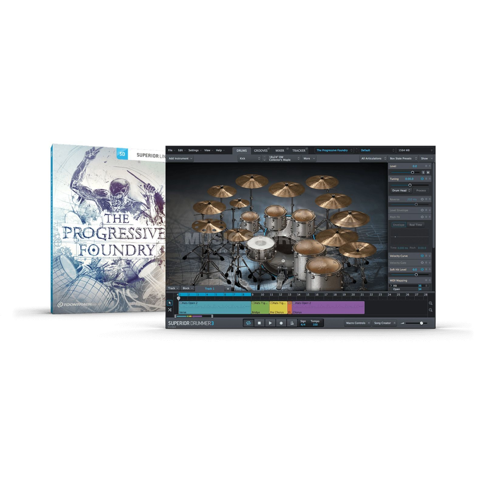 Toontrack SDX Progressive Foundry (CODE) Superior Drummer 2 Library Product Image
