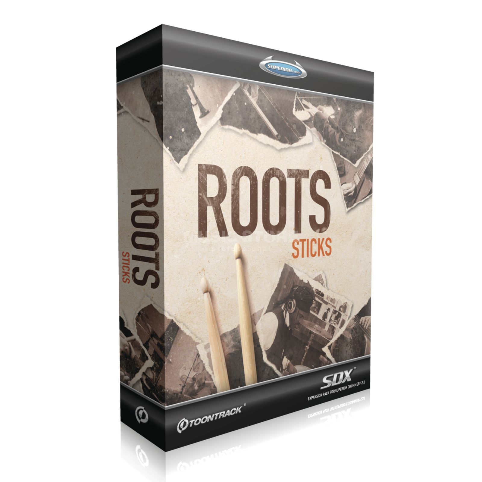 Toontrack SDX Roots: Sticks Superior Drummer 2 Library Produktbild
