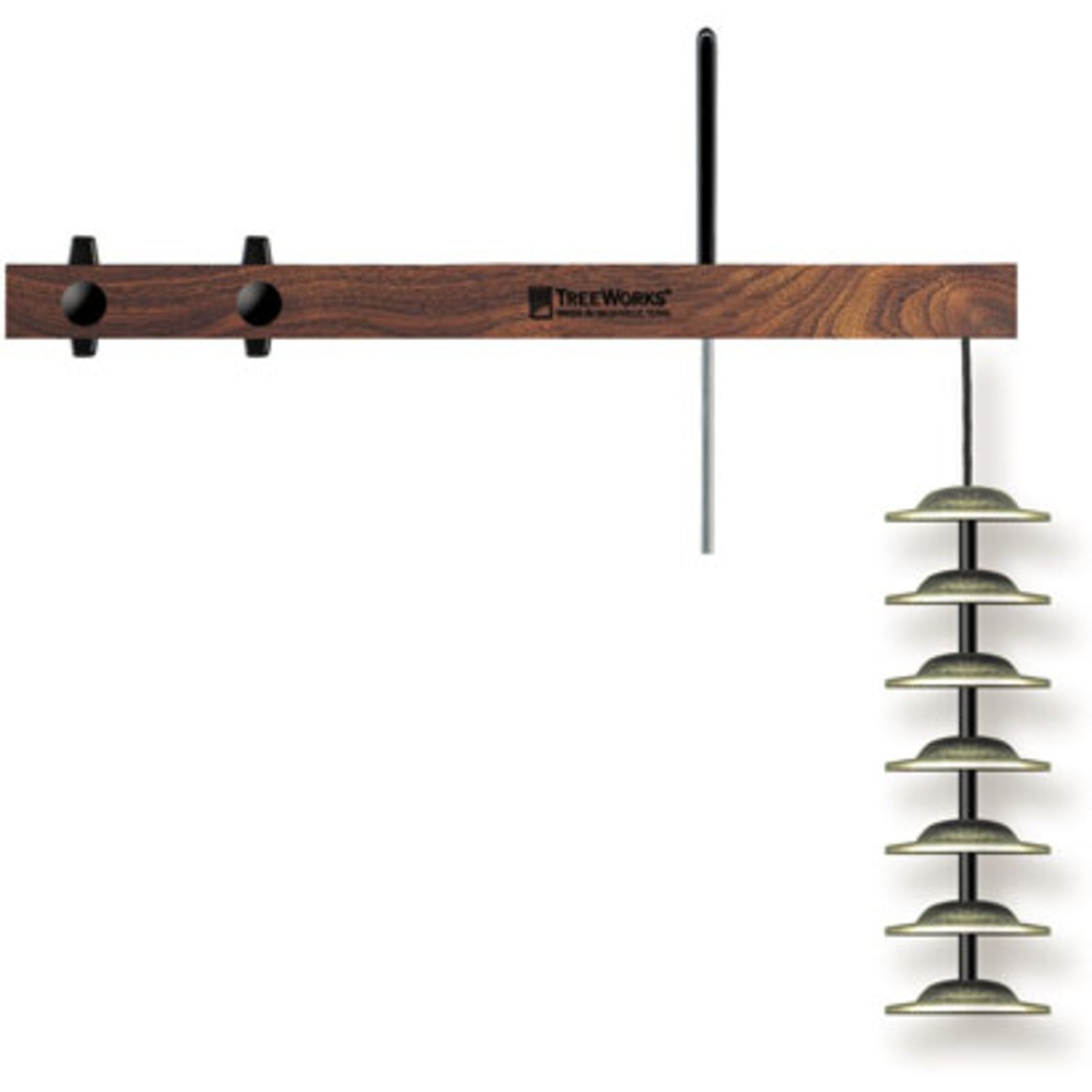 TreeWorks TRE01 Finger Cymbal Tree, 7 Cymbals, incl.  Halter Produktbillede