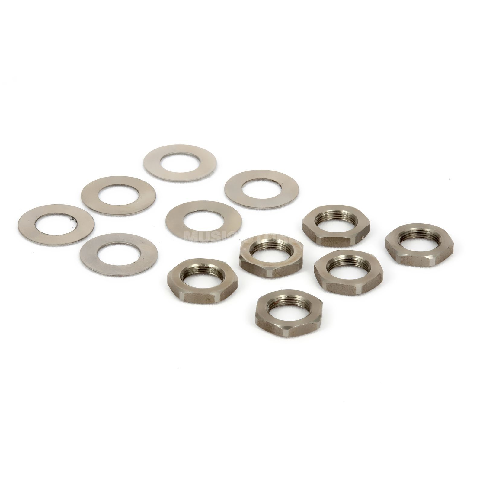 Tronical GmbH Hex Nut/Washer 6-Set Nickel Produktbillede
