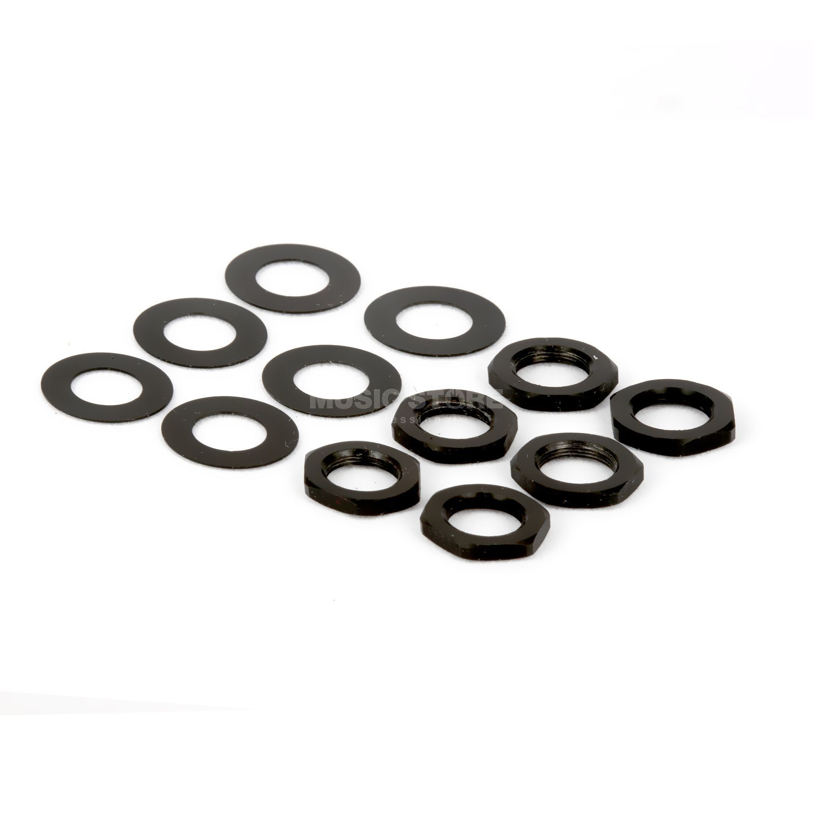 Tronical Hex Nut & Washer Black Produktbillede