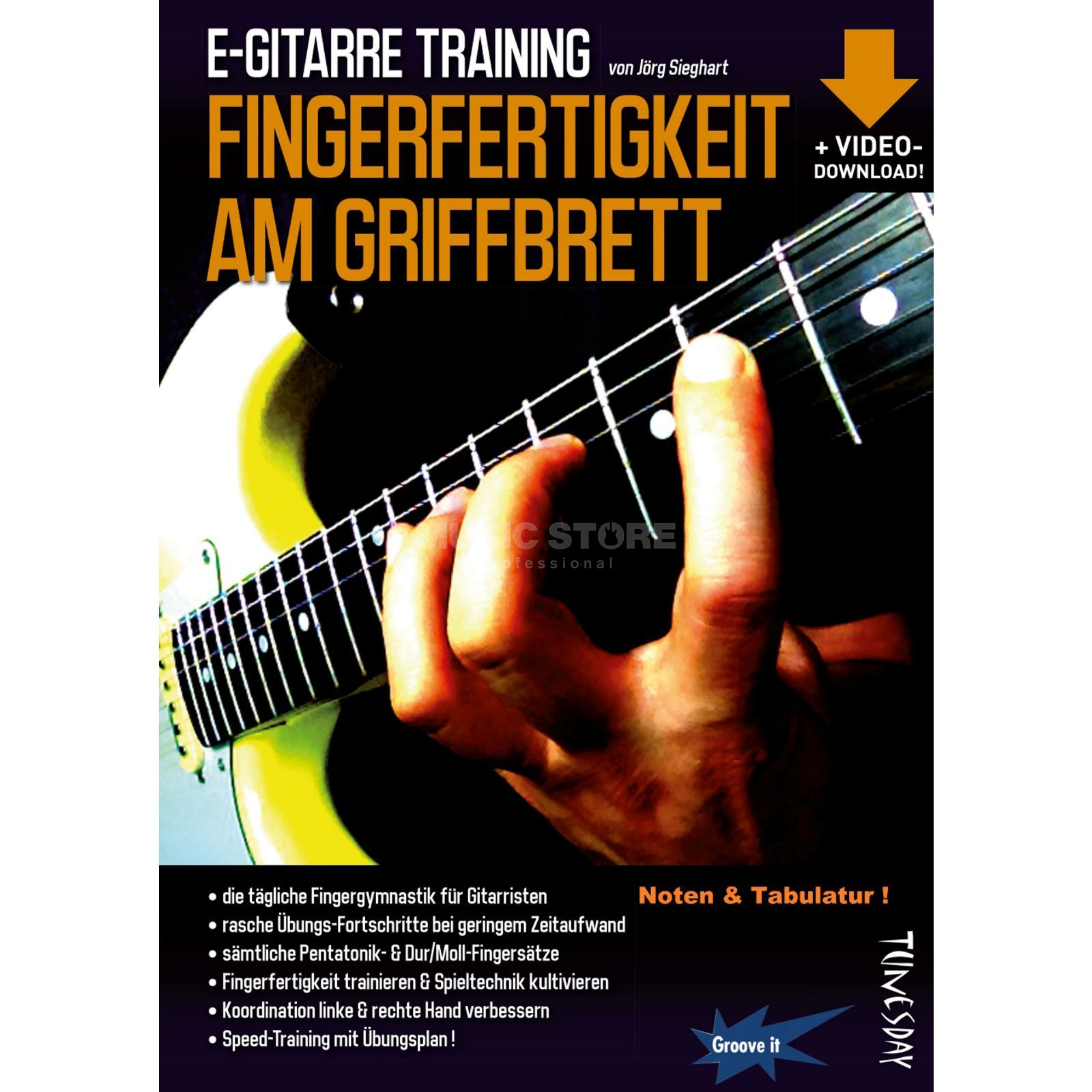 Tunesday E-Gitarre Training - Fingerfertigkeit am Griffbrett Produktbillede