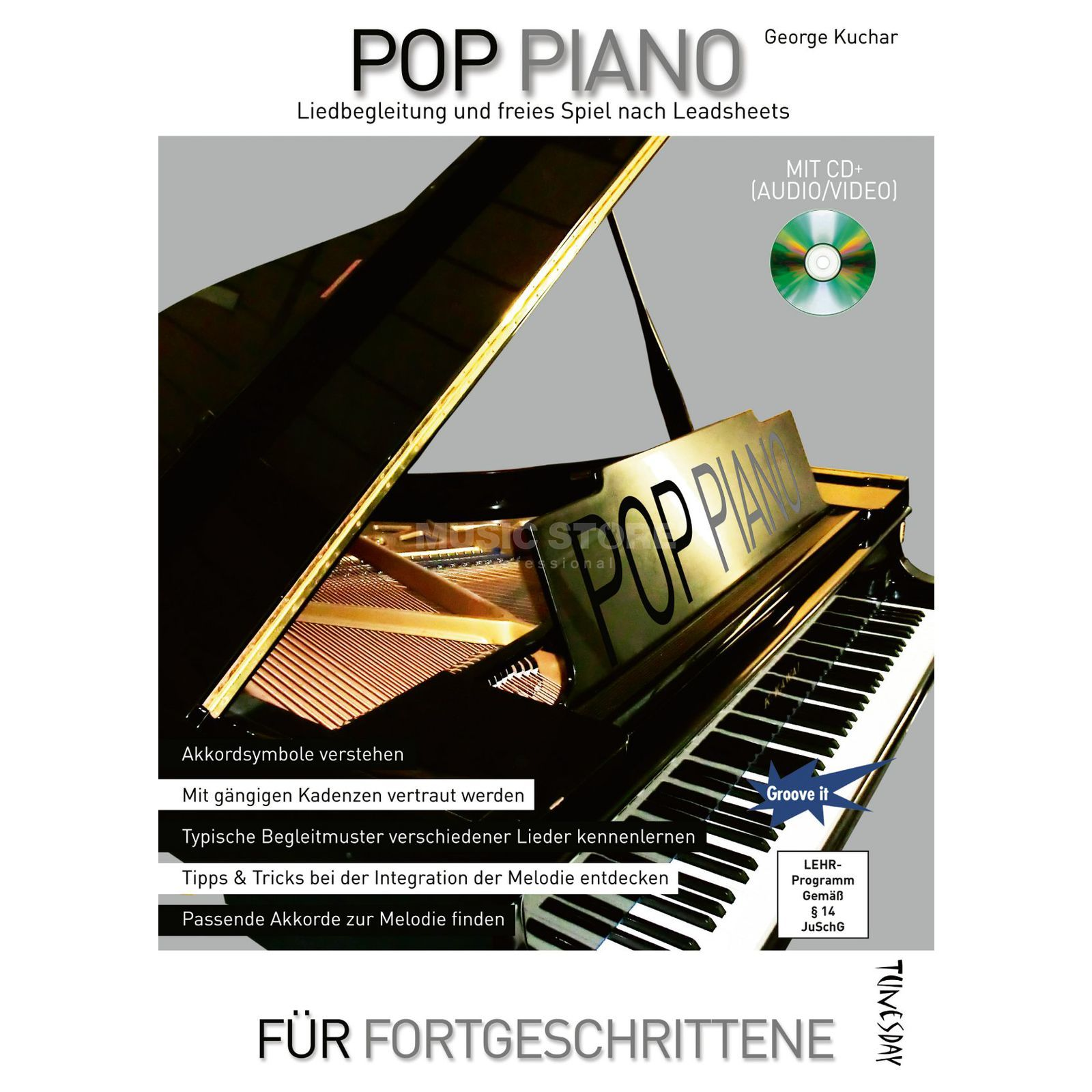 Tunesday Pop Piano Lehrbuch George Kuchar Produktbild