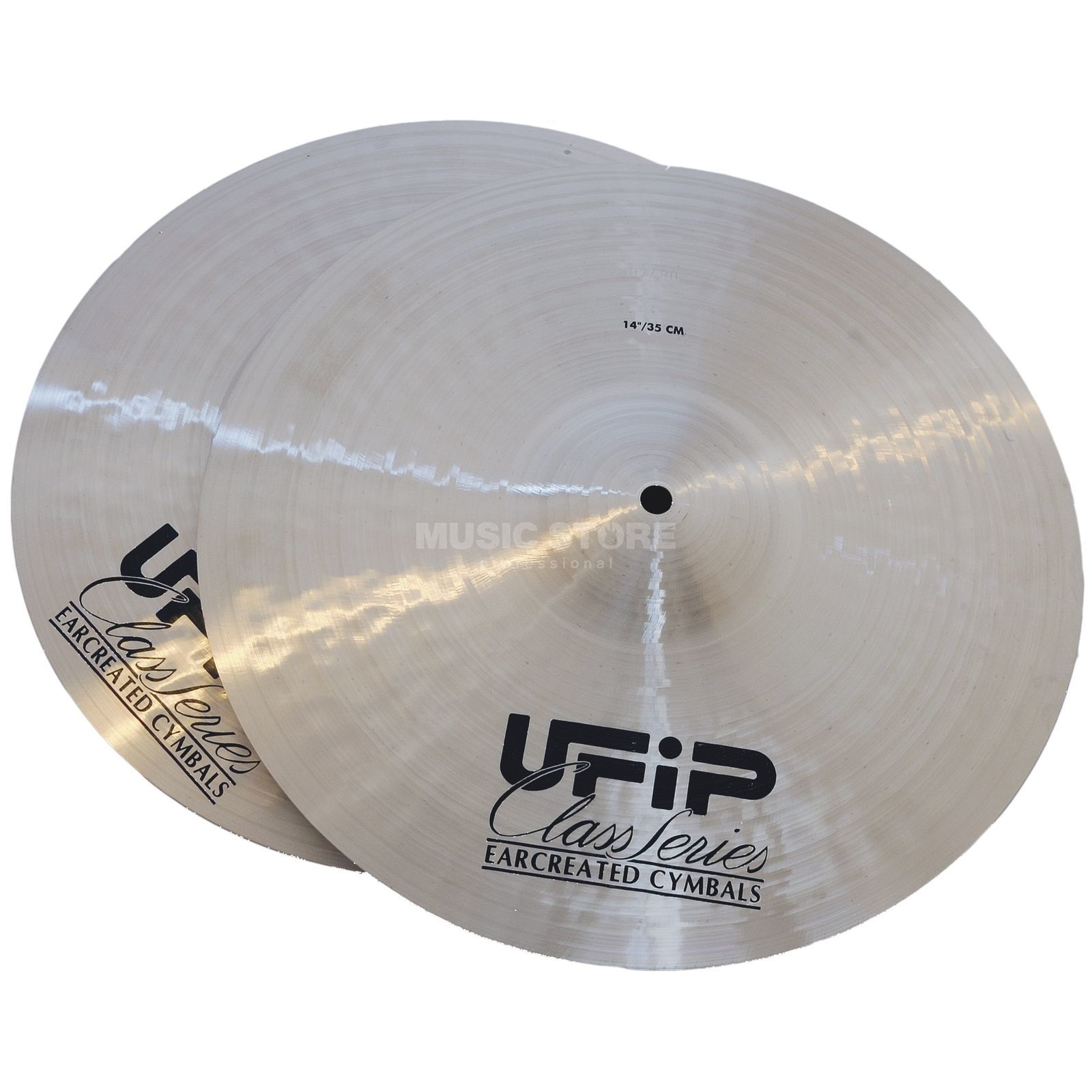 "Ufip Class Light HiHat 14"", Natural Finish Imagem do produto"