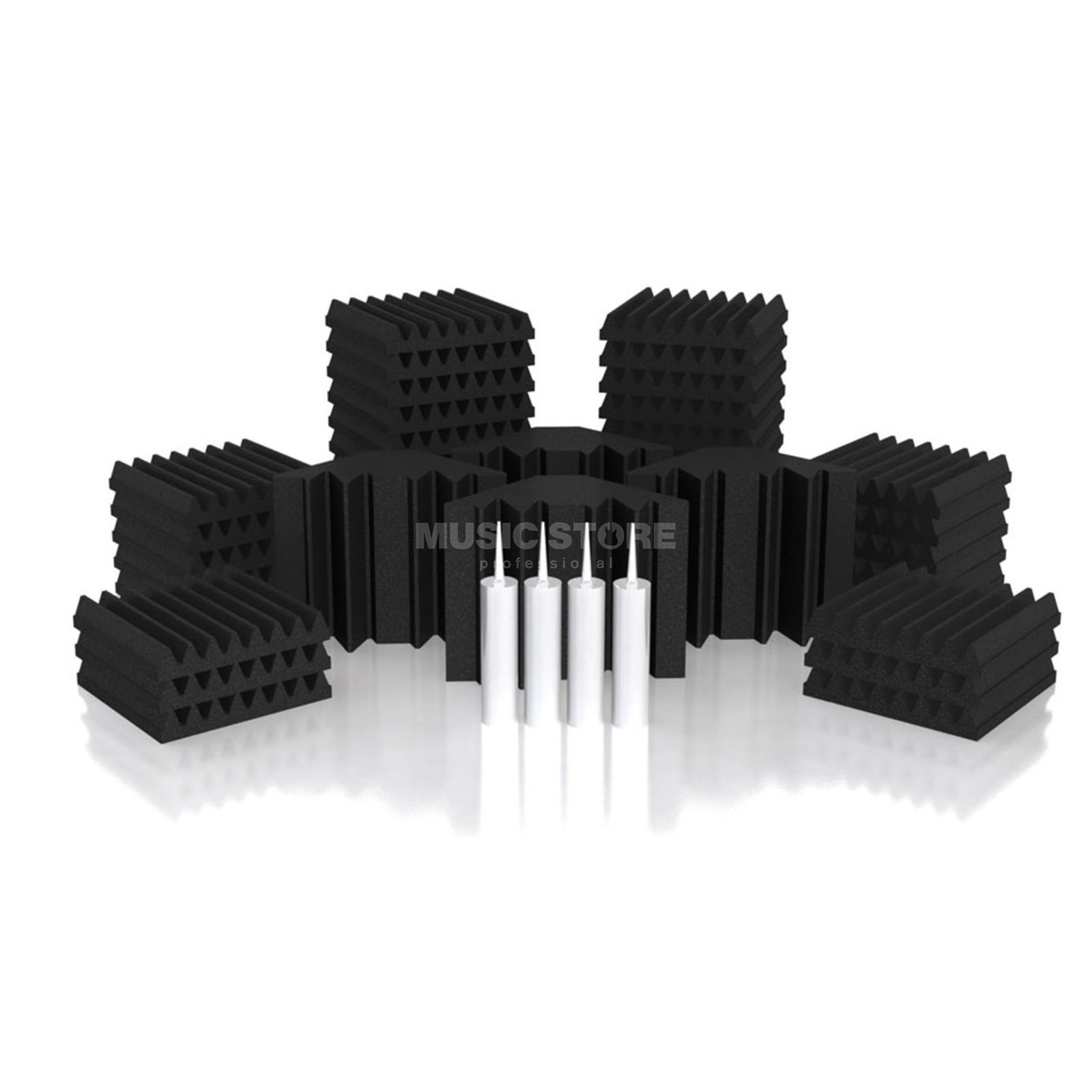 Universal Acoustics Mercury-2 Room Kit 46-teilig, 3,6m², anthrazit Produktbild