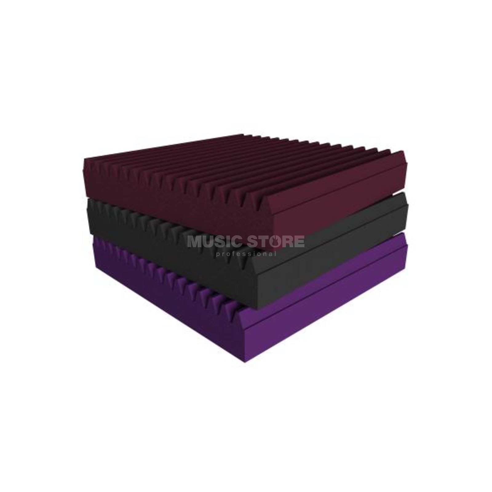 Universal Acoustics Mercury Wedge Pack Burgundy - Pack Of 10 Produktbillede