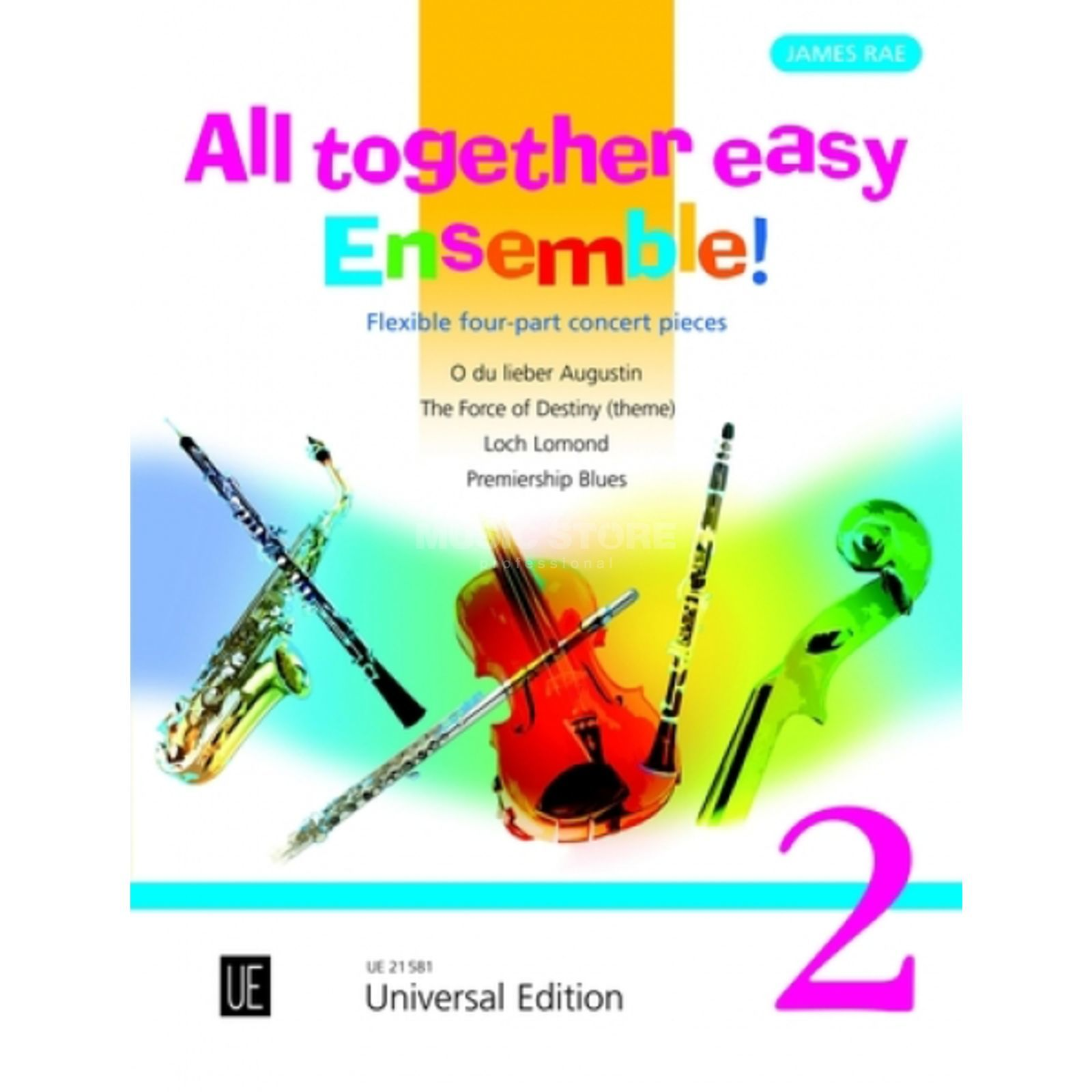 Universal Edition All together easy Ensemble! 2 James Rae, Partitur/Stimmen Produktbillede