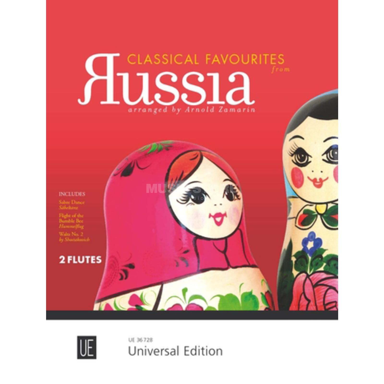 Universal Edition Classical Favourites from Russia 2 Flöten Produktbillede
