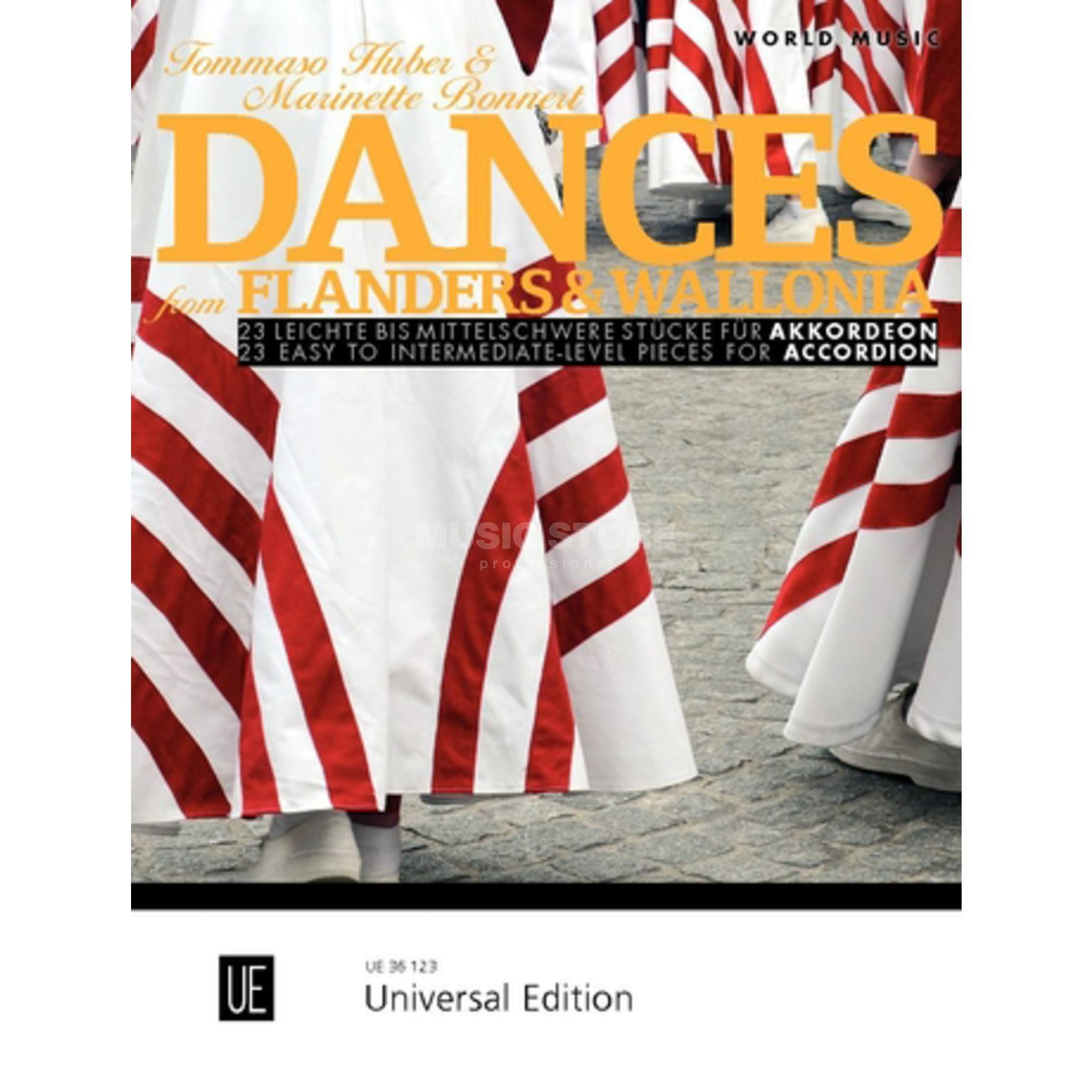 Universal Edition Dances from Flanders & Wallonia Accordion Produktbillede