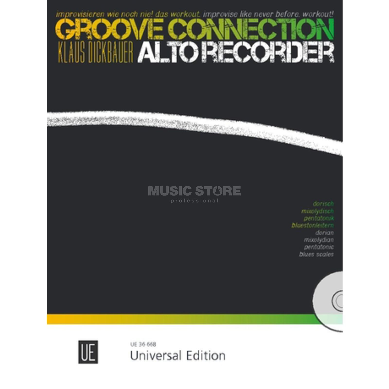Universal Edition Groove Connection - Alto Recorder: Dorisch – Mixolydisch – Pentatonik – Blues Produktbild