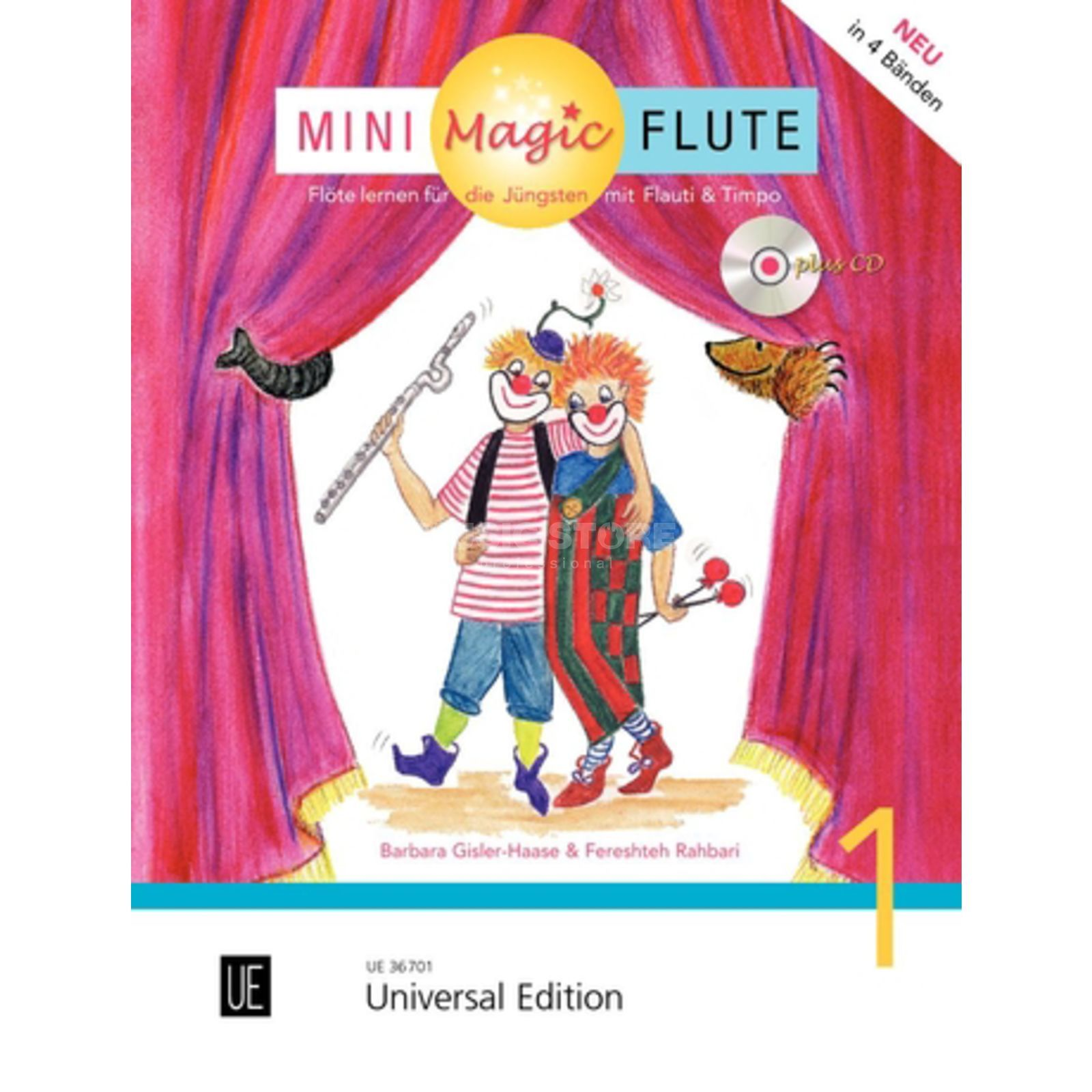 Universal Edition Mini Magic Flute 1 Barbara Gisler-Haase, Flöte/CD Produktbillede