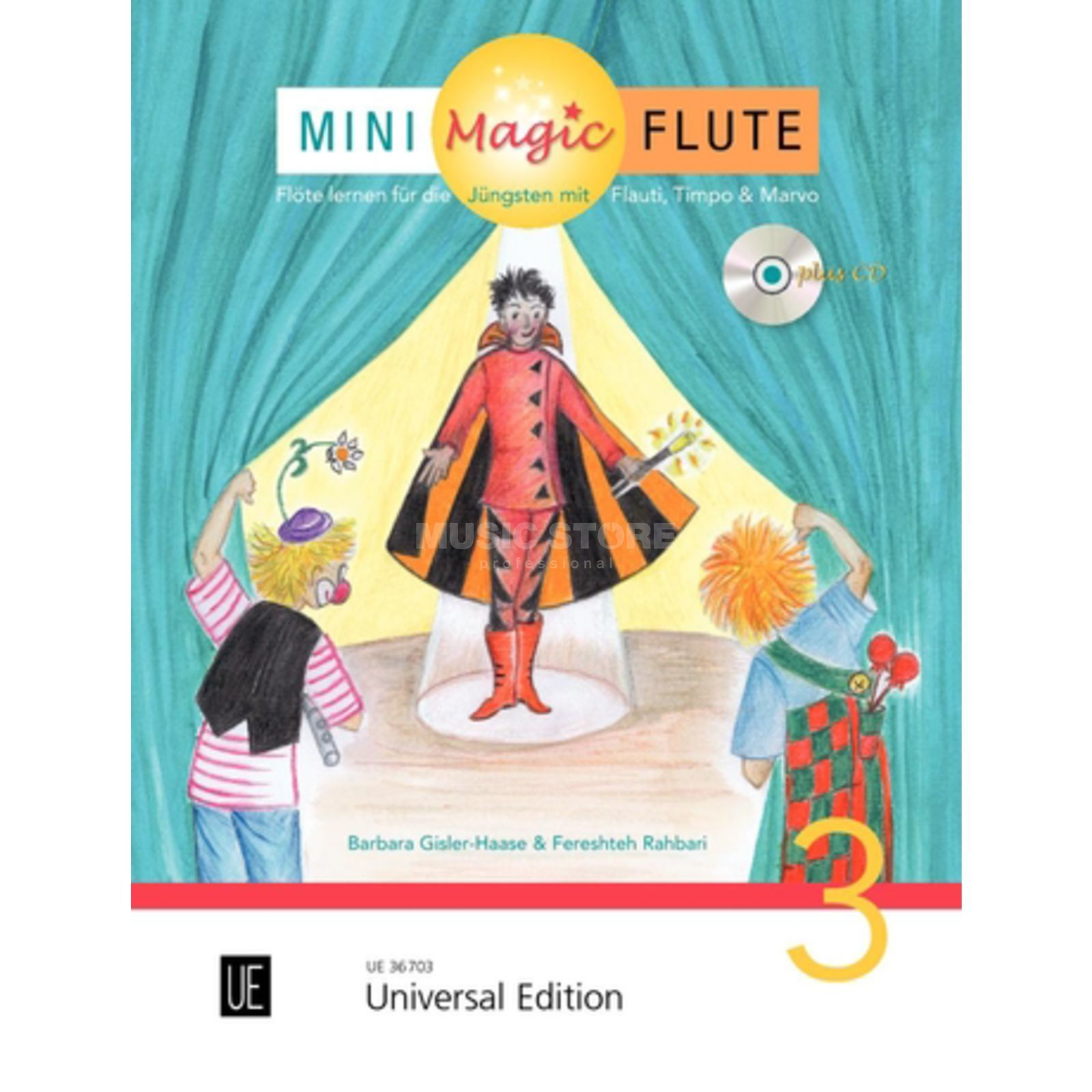 Universal Edition Mini Magic Flute 3 Barbara Gisler-Haase, Flöte/CD Produktbillede