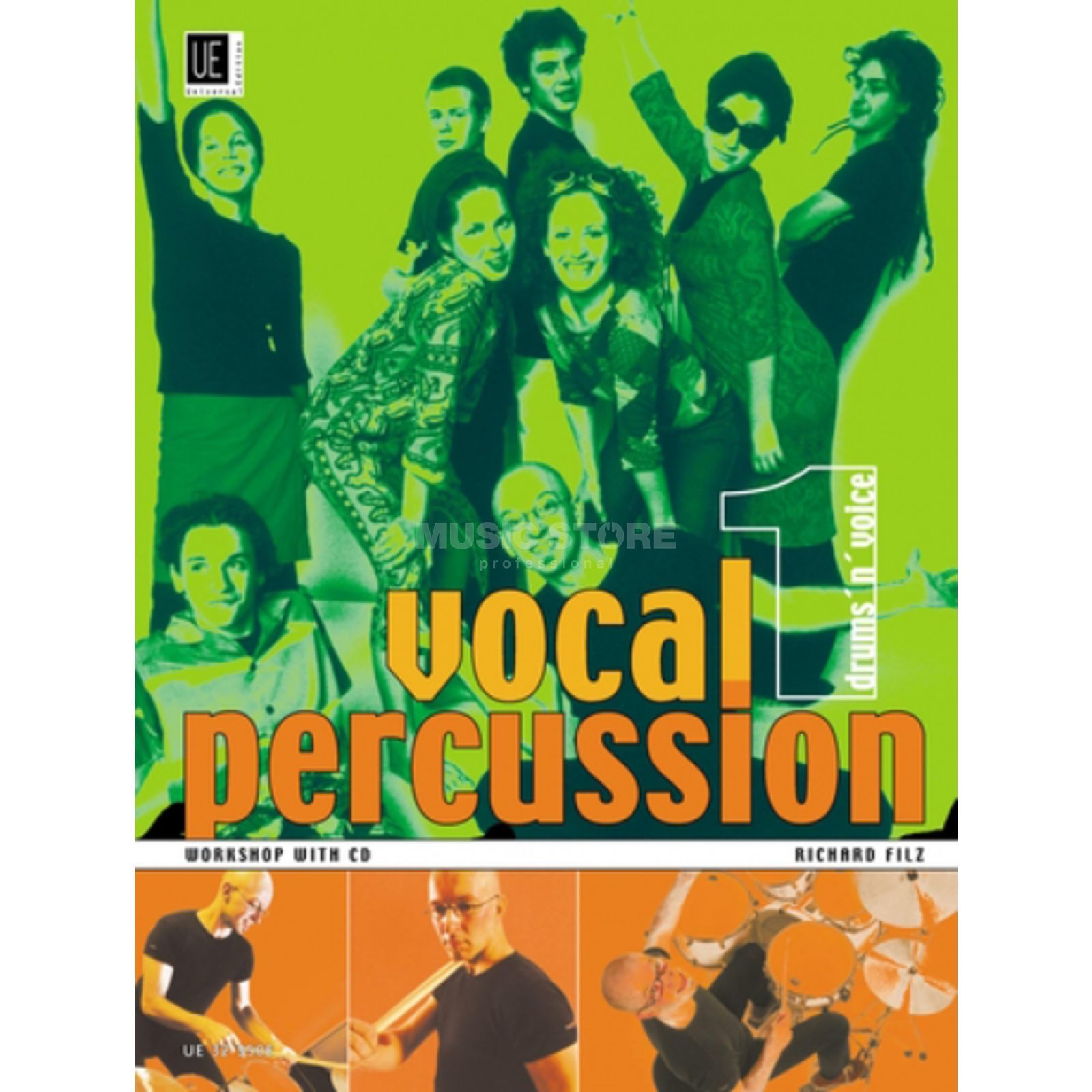 Universal Edition Vocal Percussion 1 mit CD Richard Filz Produktbild