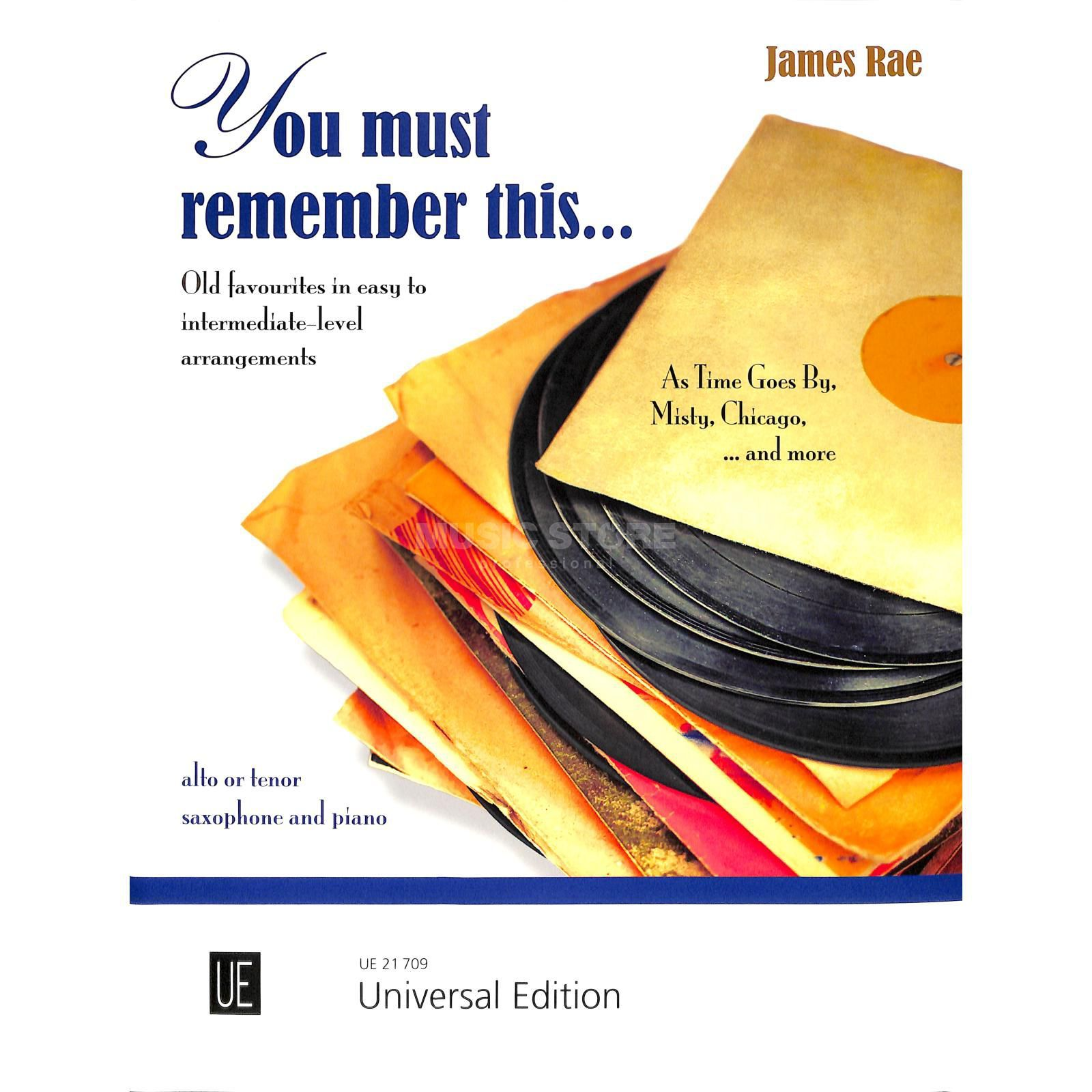 Universal Edition You must remember this... Image du produit
