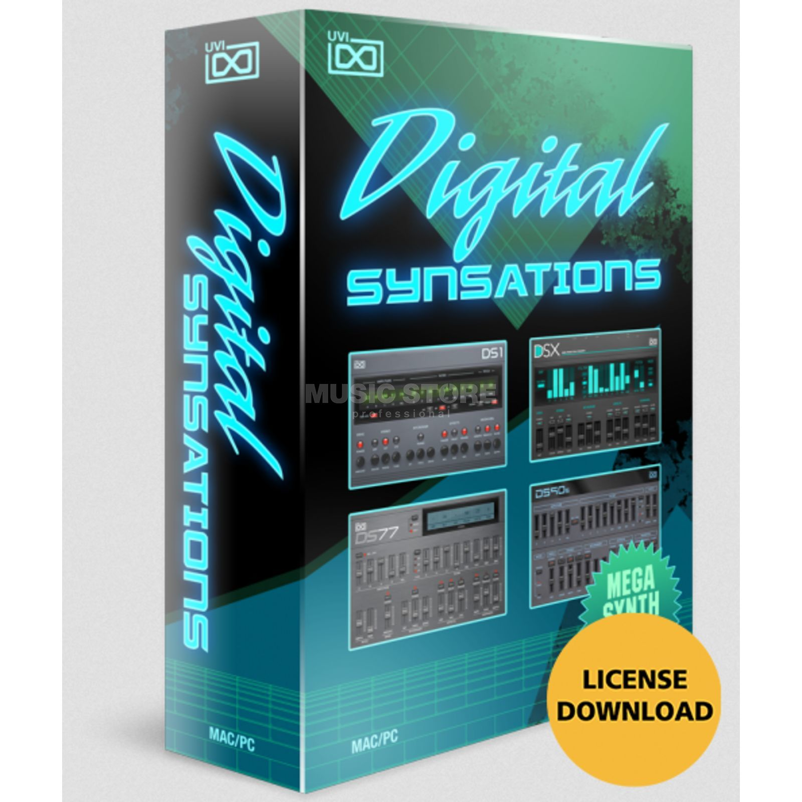 UVI Sounds & Software Digital Synsations (Lizenz) Software Instrument Produktbild