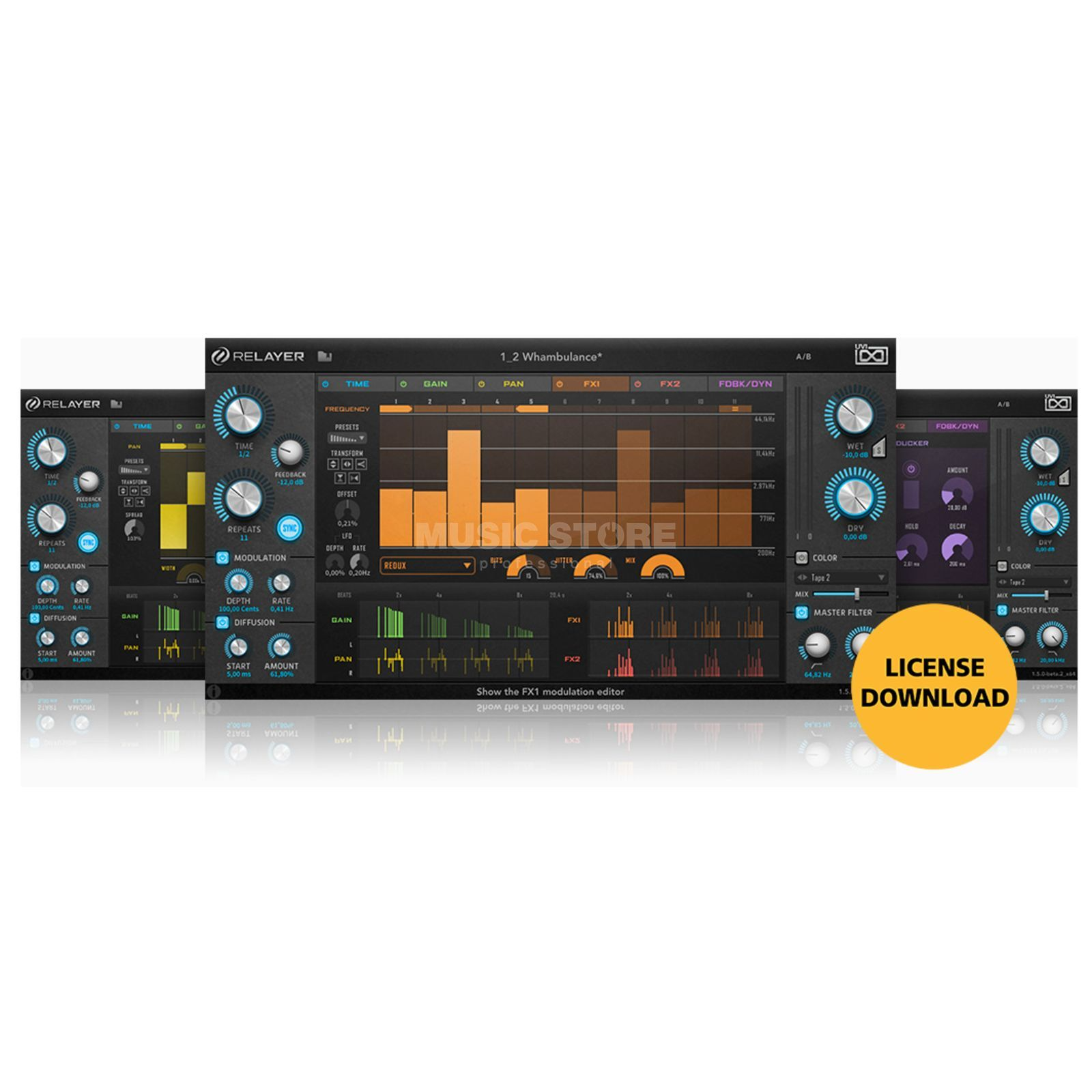UVI Sounds & Software Relayer (License) Software FX Plug-in Produktbild