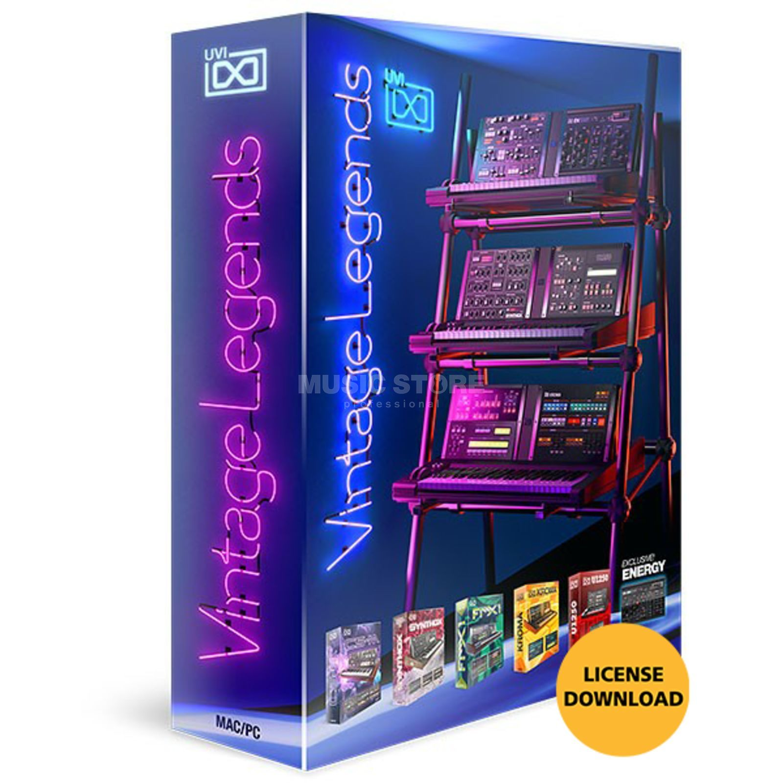 UVI Vintage Legends  (Lizenz) Software Instrument Produktbild