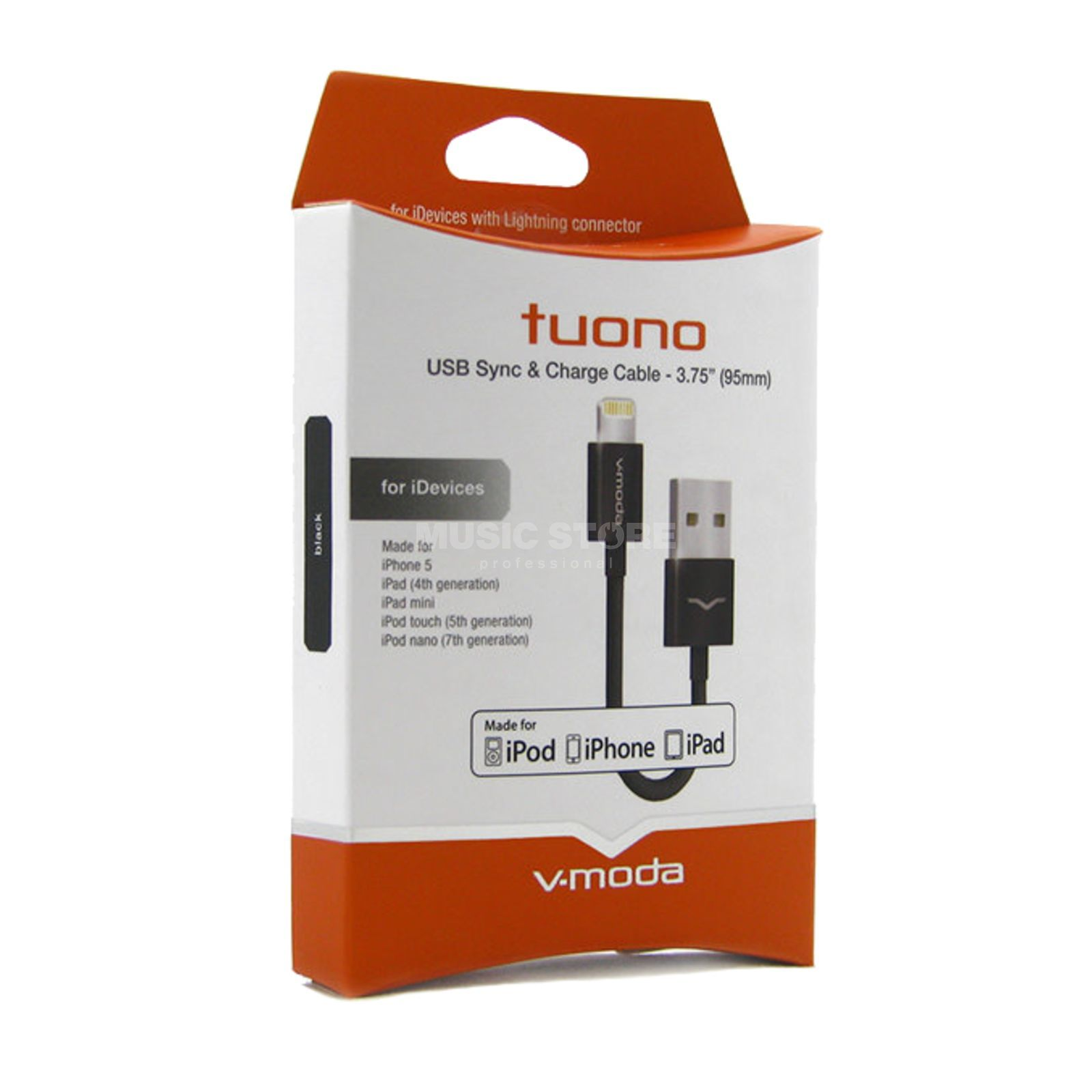 V-Moda Tuono Lightning Cable black Kabel für iDevices Produktbild
