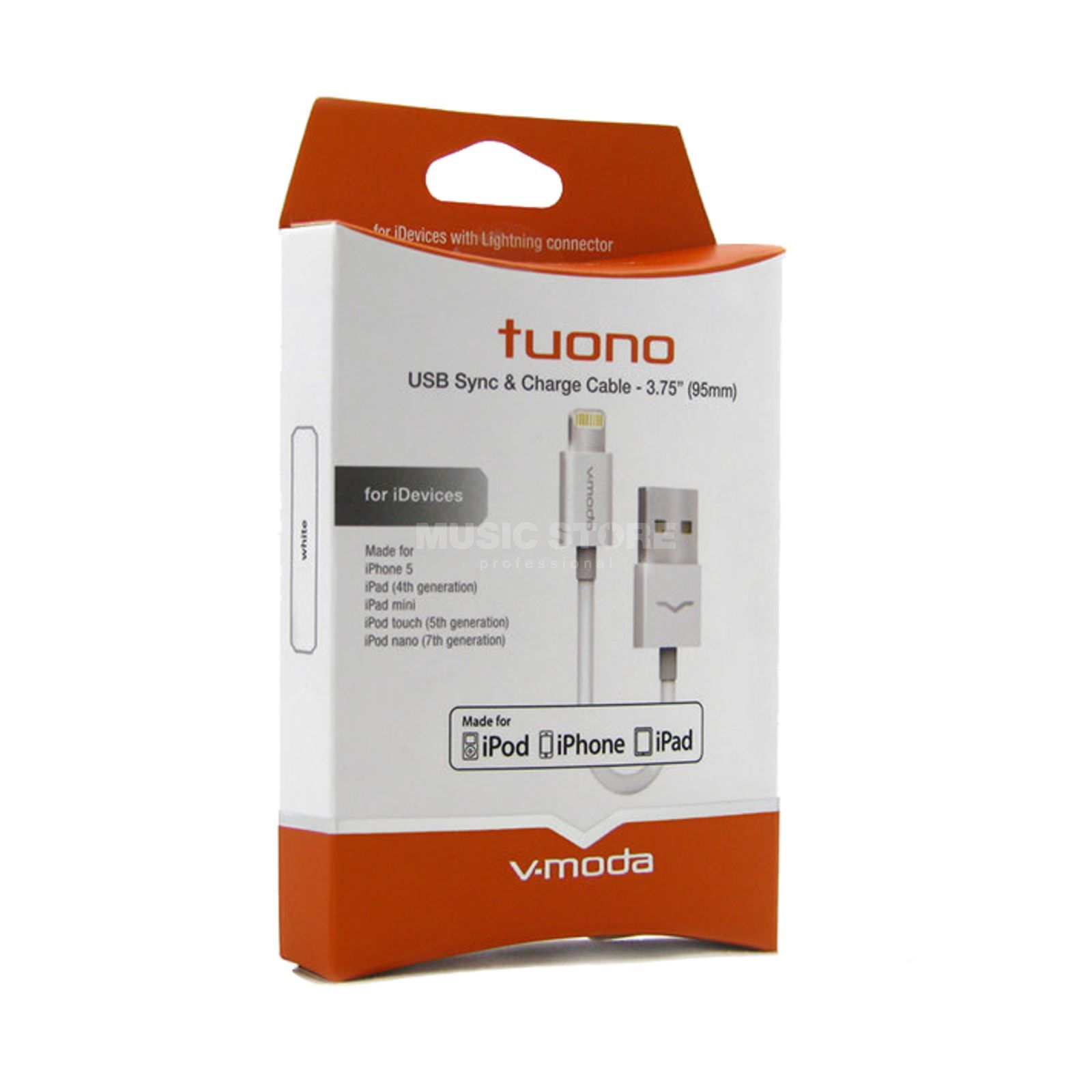 V-Moda Tuono Lightning Cable white Kabel für iDevices Produktbild