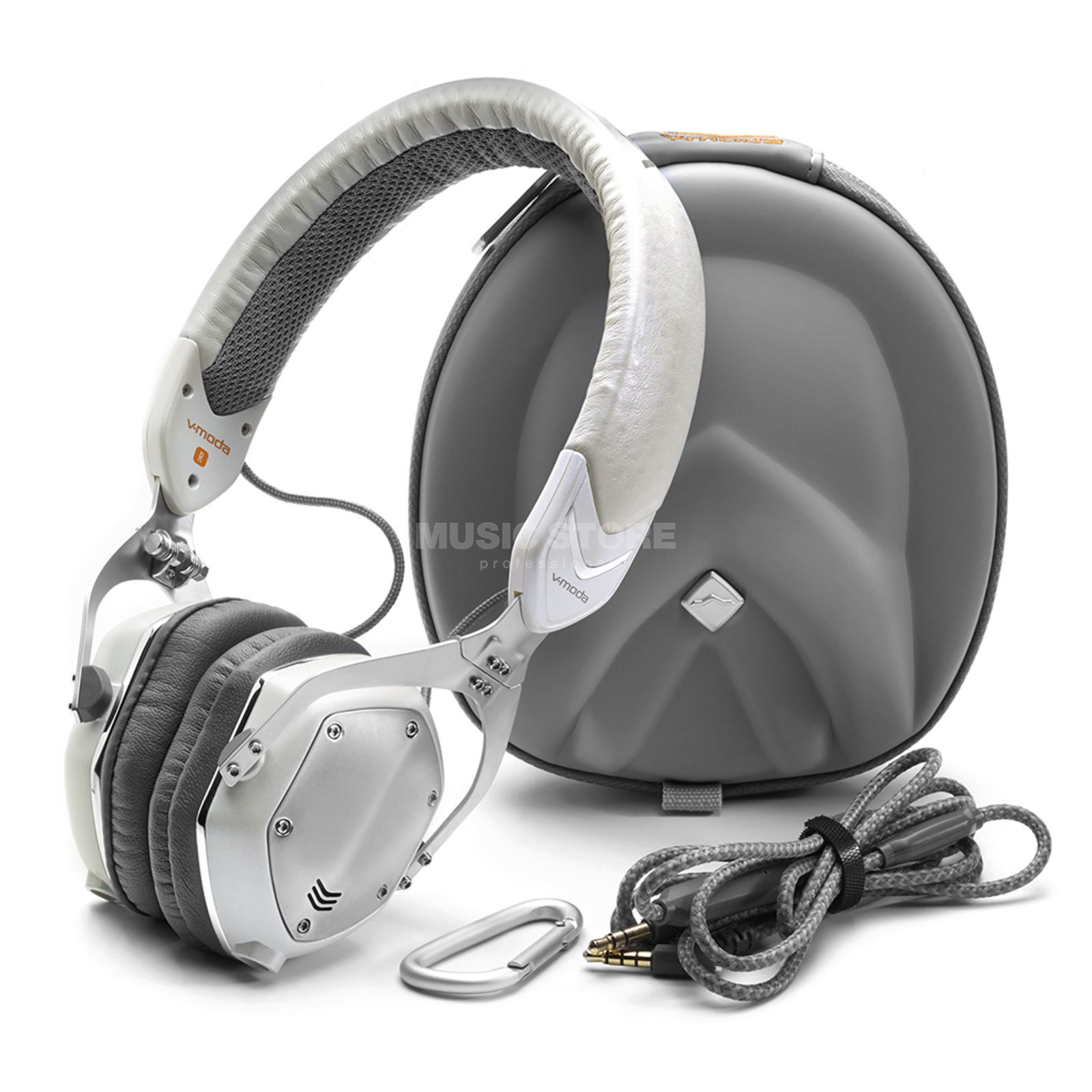 V-Moda XS White Silver On-Ear Headphones Produktbild