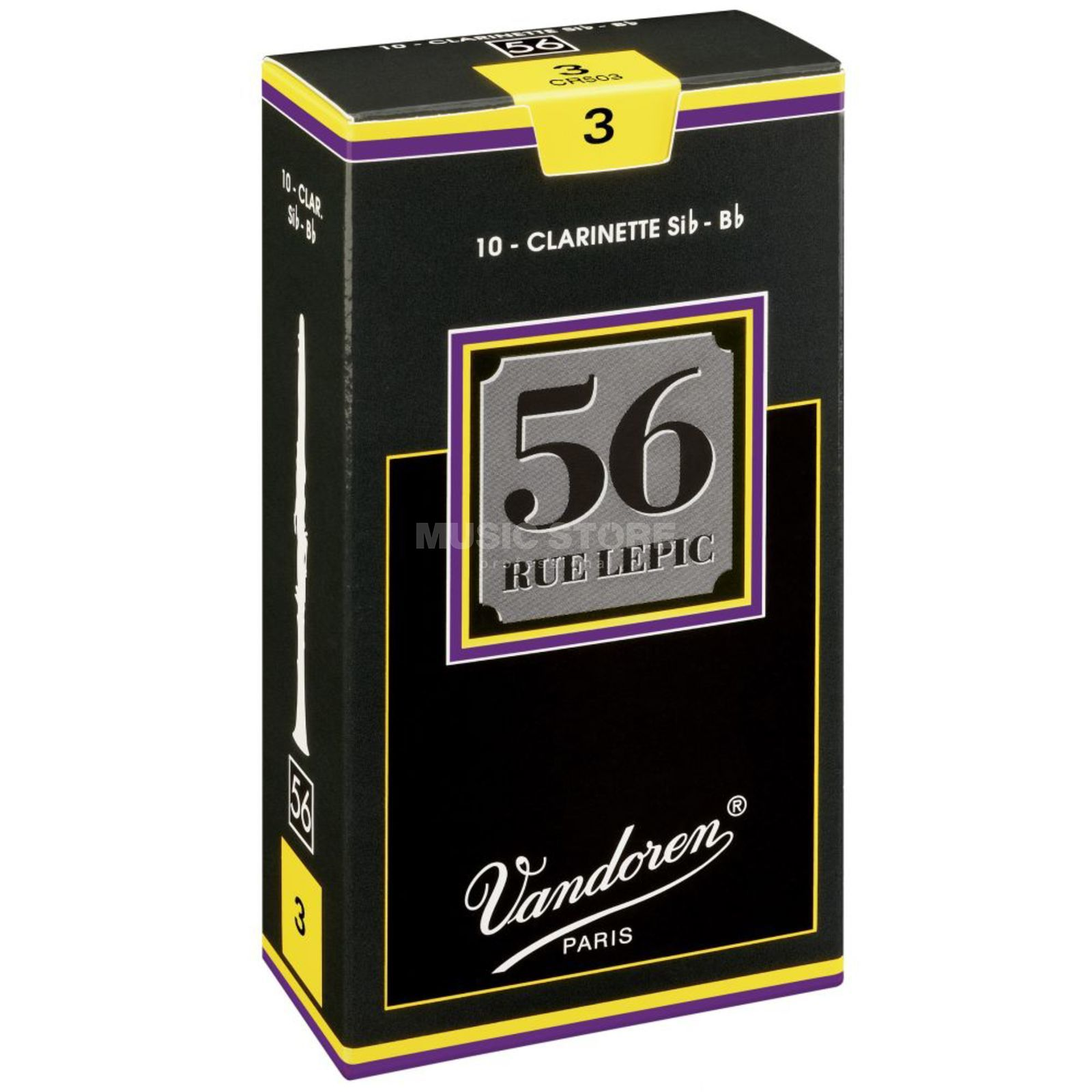 Vandoren 56 Rue Lepic Bb-Clarinet 2.5 Box of 10 Zdjęcie produktu